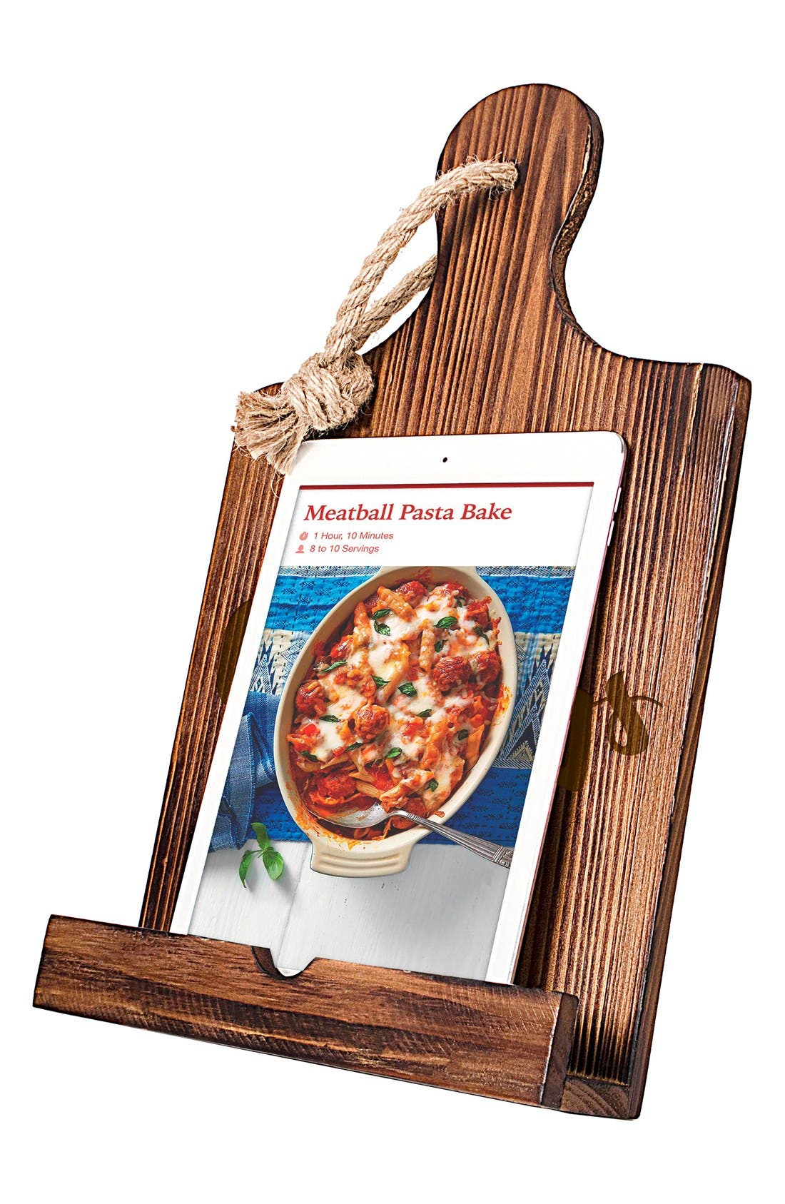 'Cravings' Wooden iPad & Recipe Holder,                             Alternate thumbnail 3, color,                             Brown