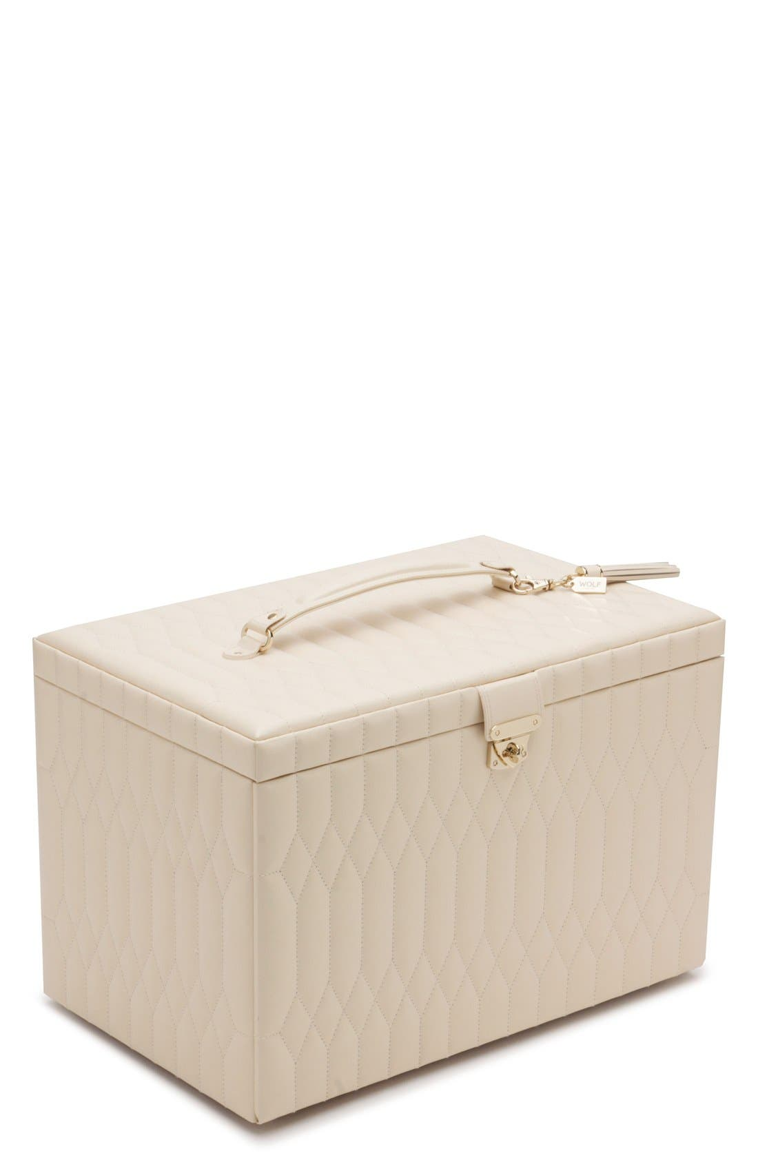 'Caroline' Jewelry Case,                             Main thumbnail 1, color,                             Ivory