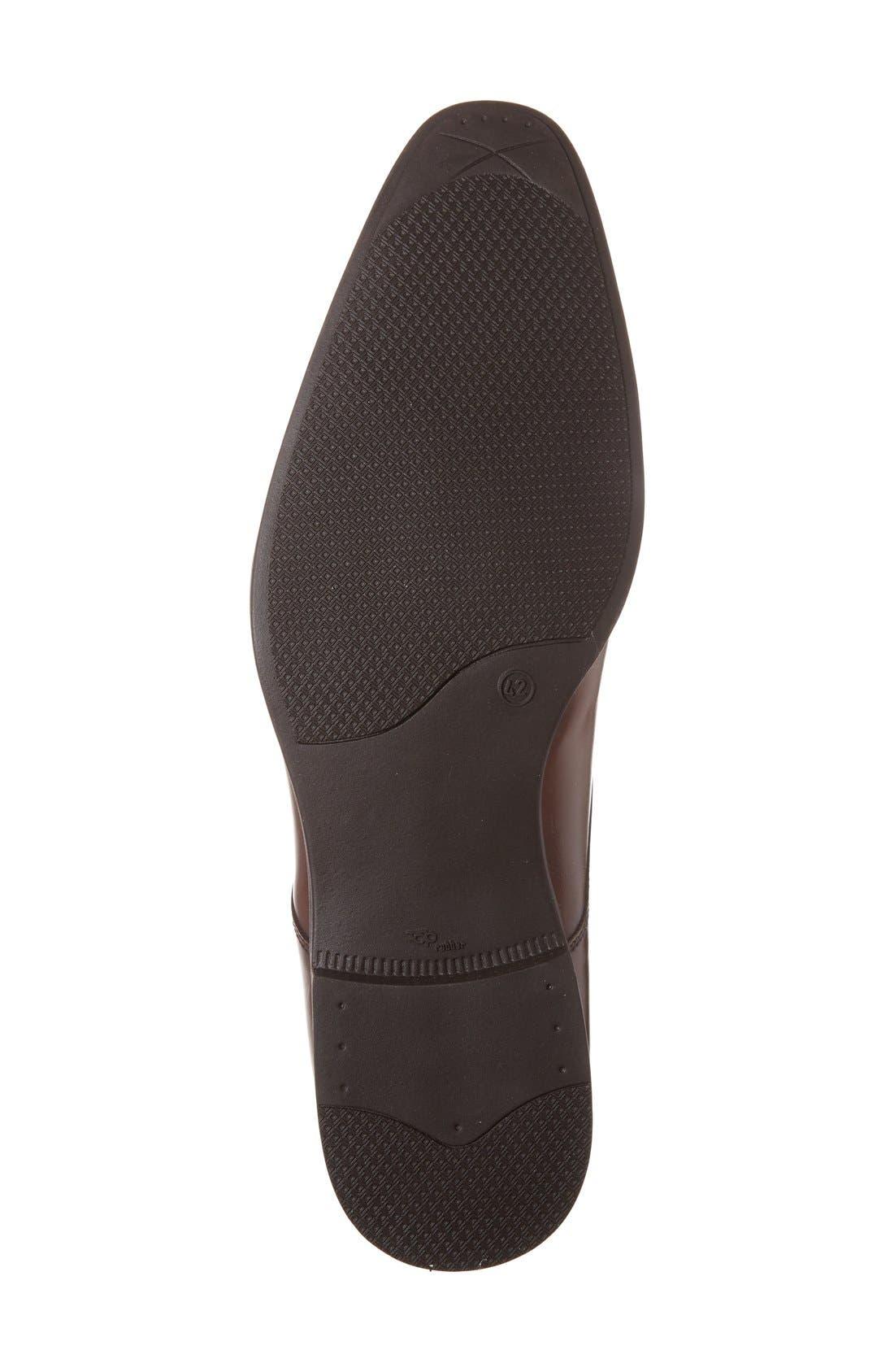 'Stark' Cap Toe Derby,                             Alternate thumbnail 4, color,                             Tan Leather