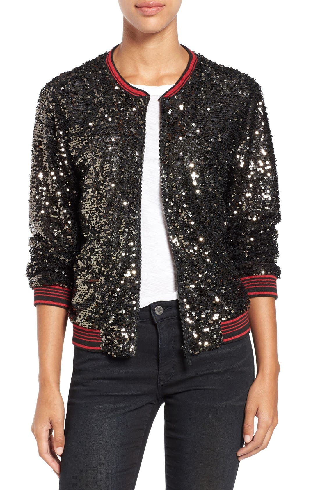 Alternate Image 1 Selected - Sanctuary Sequin Bomber