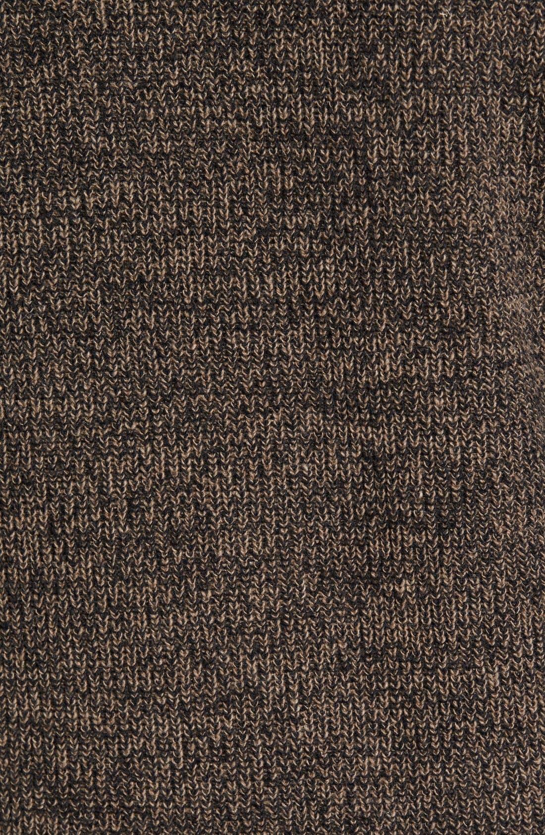 'Woodglen' Herringbone Knit Lambswool Quarter Zip Sweater,                             Alternate thumbnail 5, color,                             Walnut