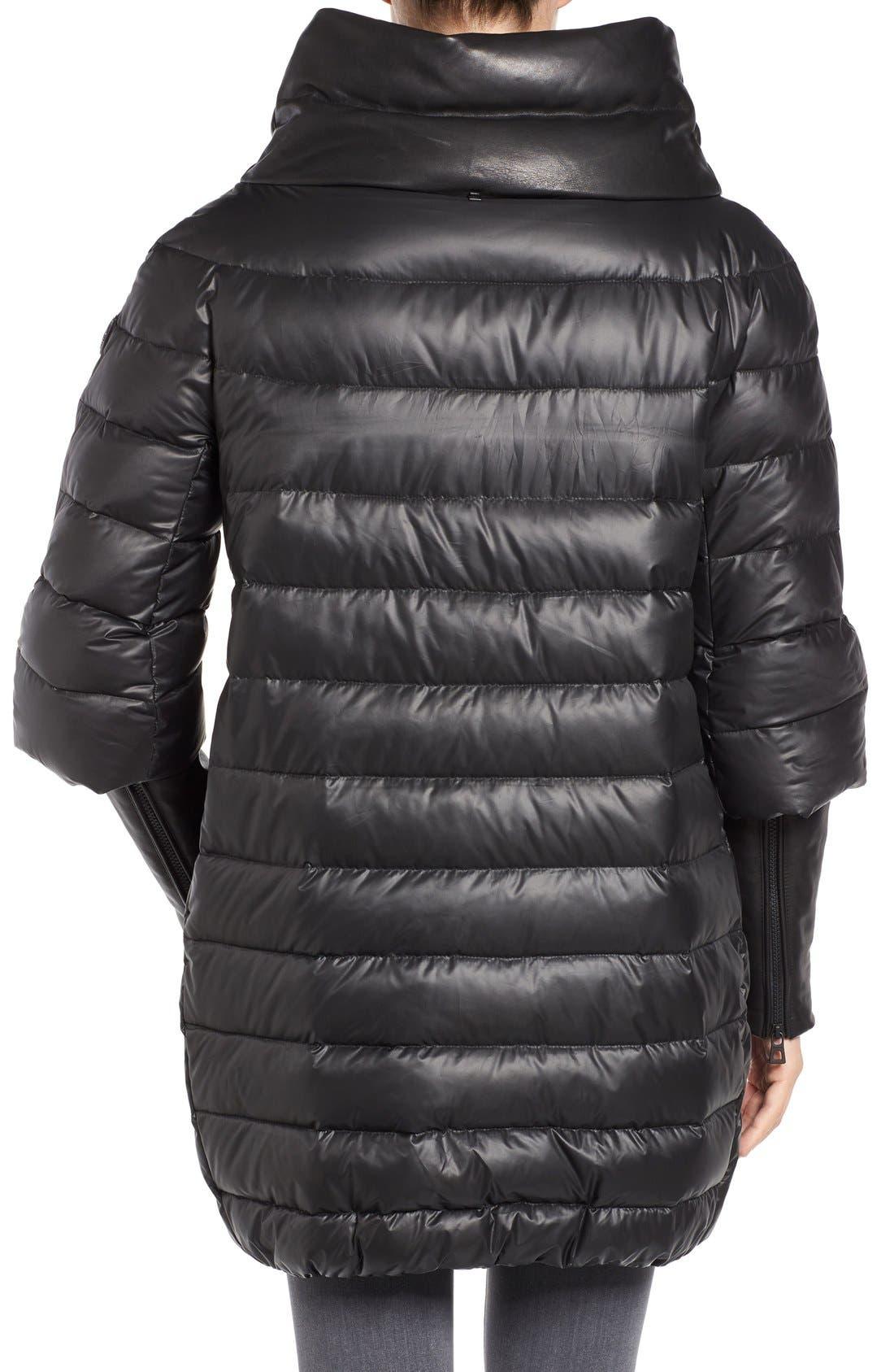 Alternate Image 2  - Rudsak Leather Trim Down Puffer Coat