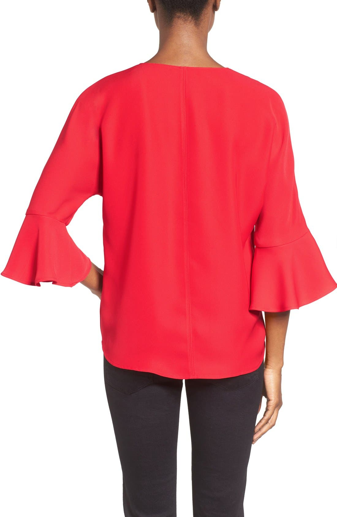 Alternate Image 2  - Pleione Bell Sleeve V-Neck Top