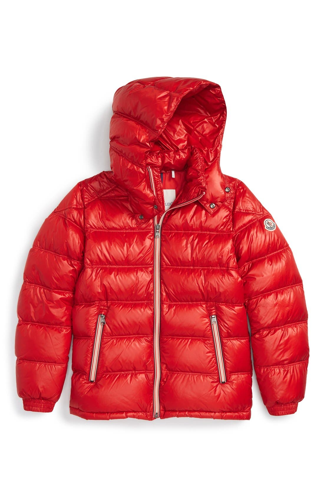 'Gaston' Hooded Down Jacket,                         Main,                         color, Red