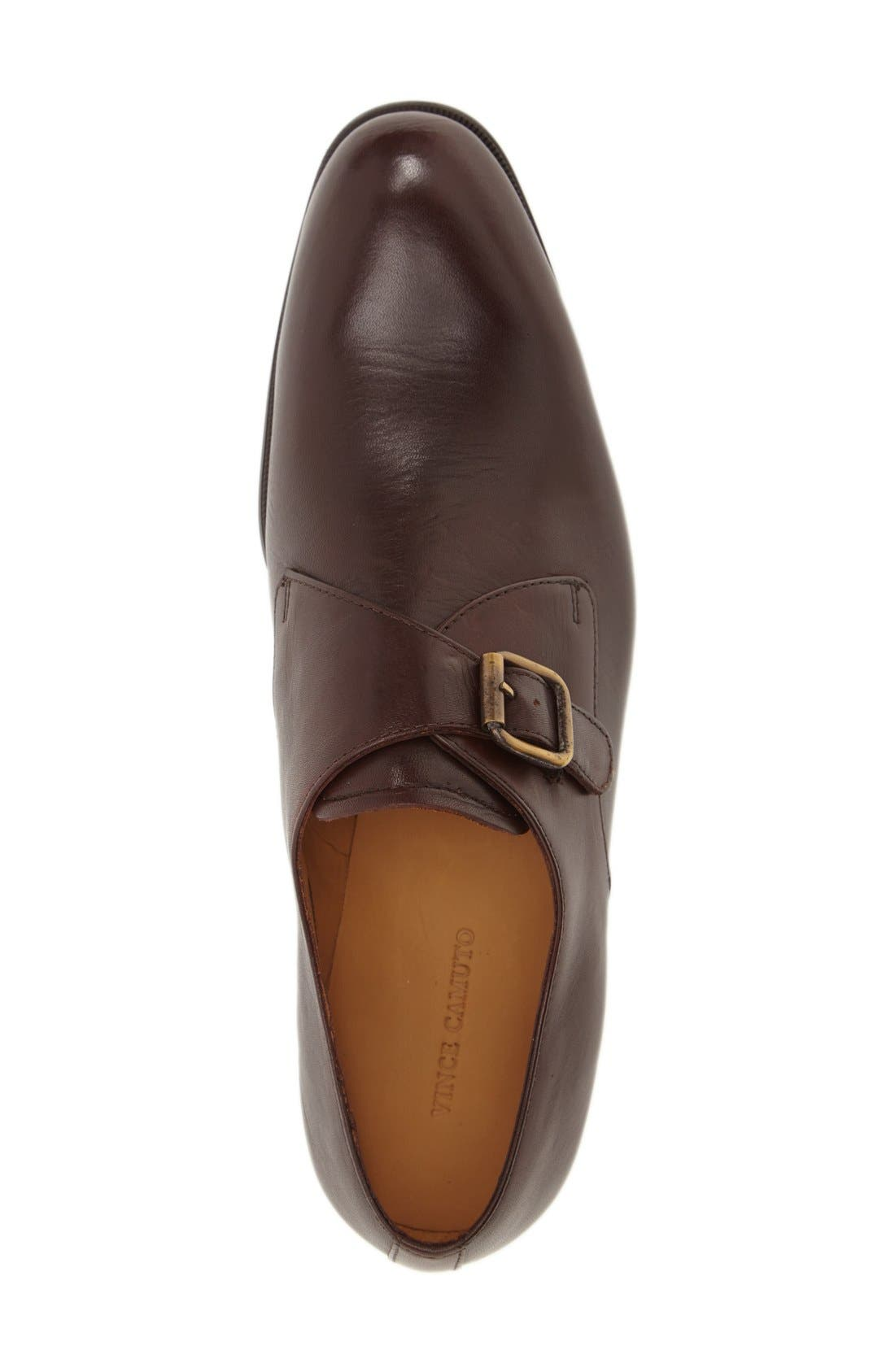 'Trifolo' Monk Strap Shoe,                             Alternate thumbnail 3, color,                             Dark Woodbury Leather