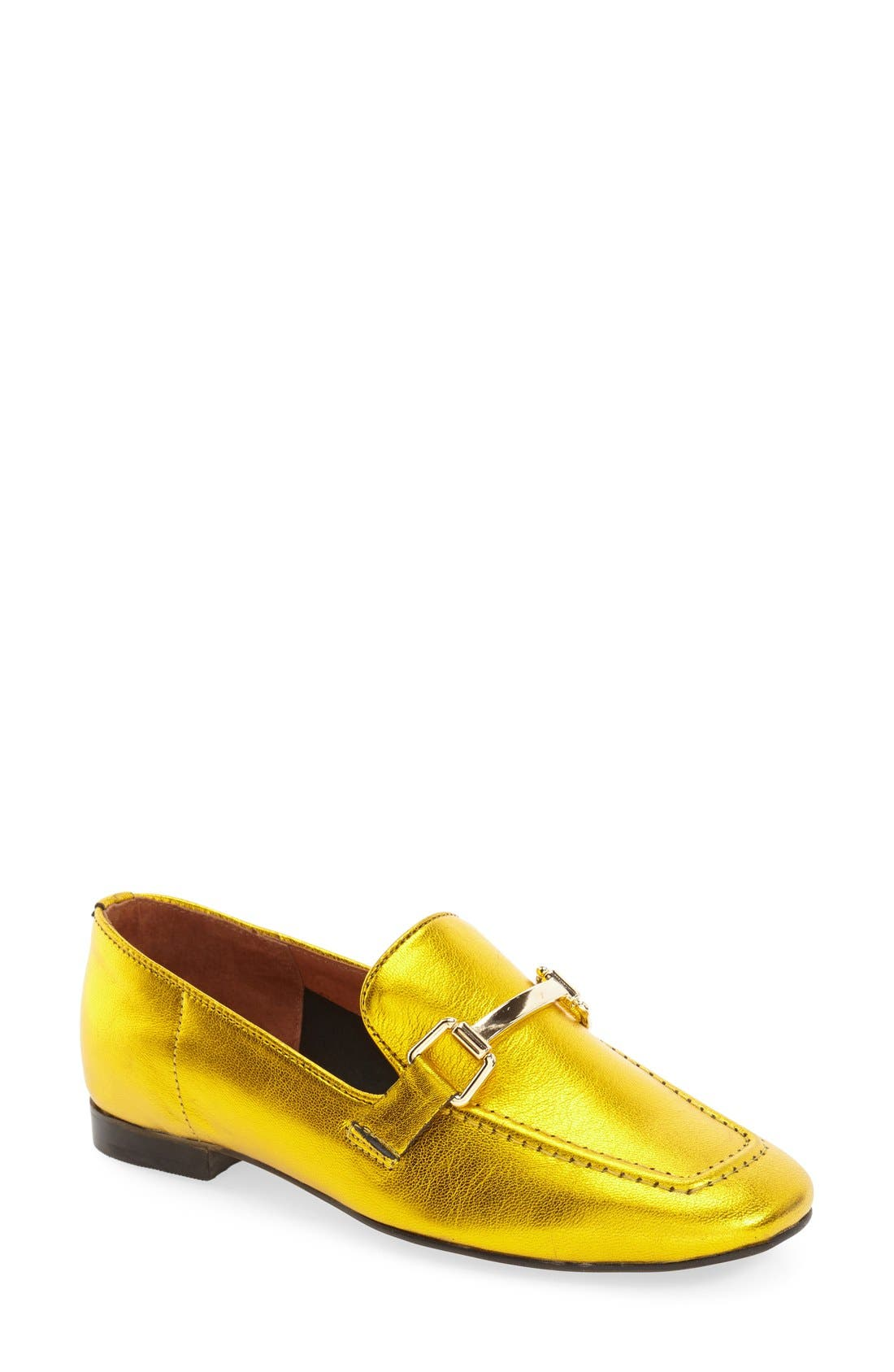 Main Image - Topshop 'Karter' Square Toe Loafer (Women)