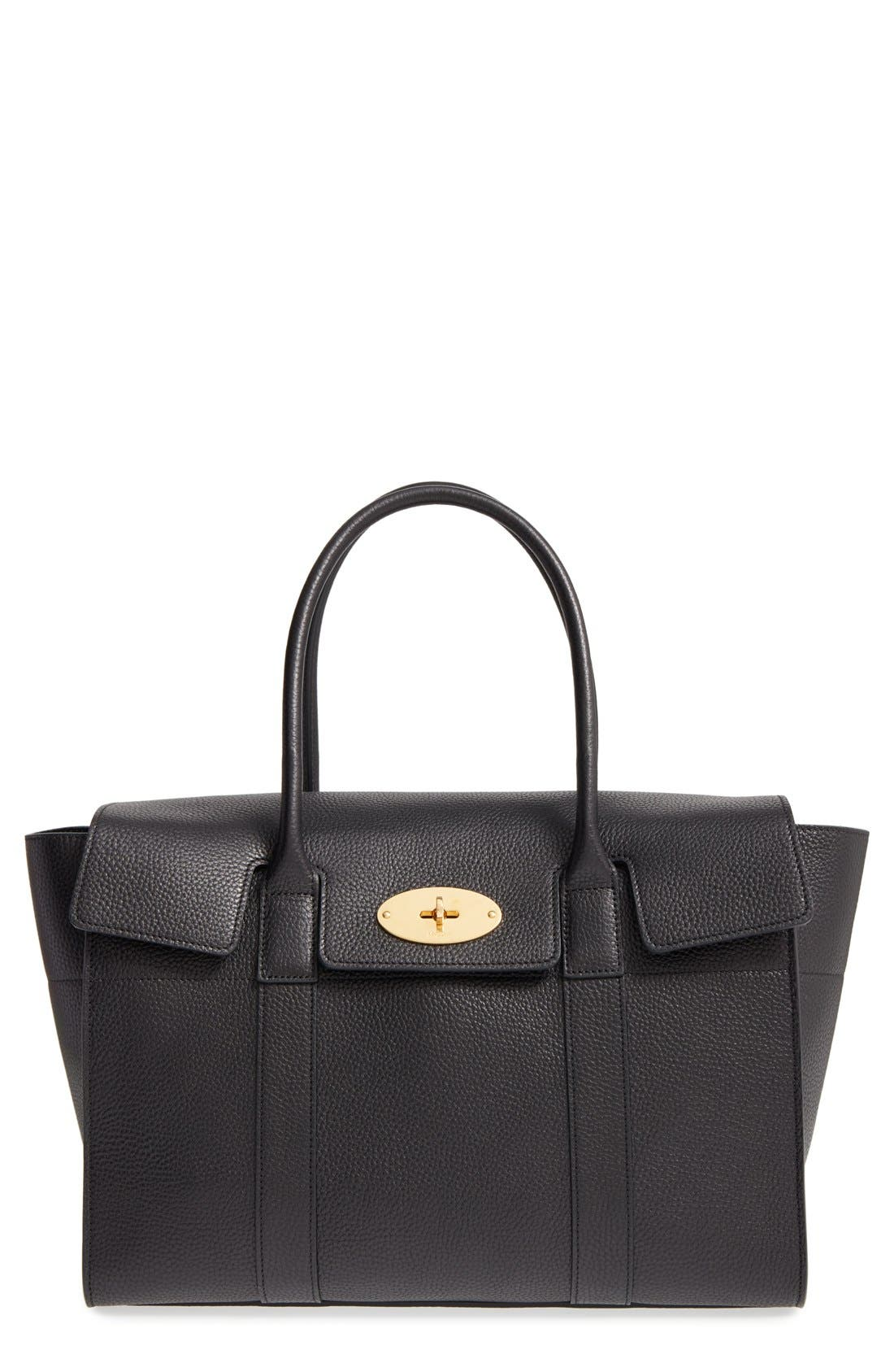 Mulberry 'New Bayswater' Grained Leather Satchel