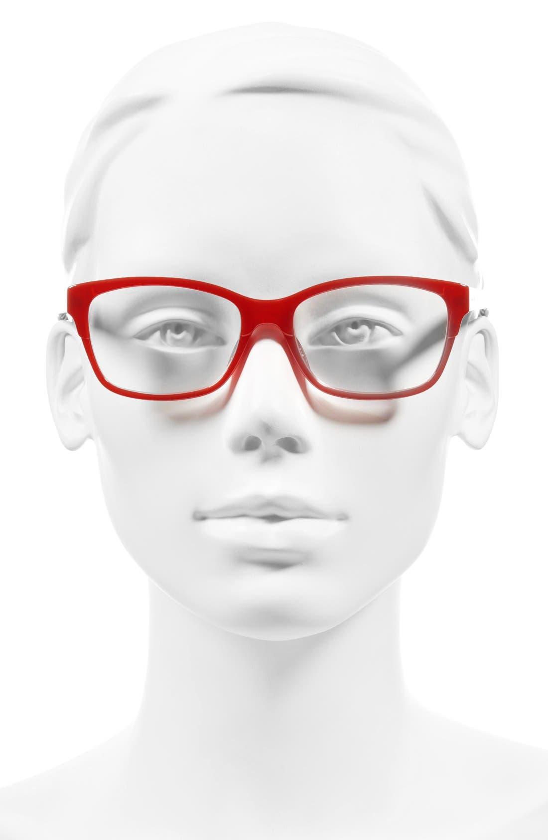 tenil 52mm reading glasses,                             Alternate thumbnail 2, color,                             Milky Red