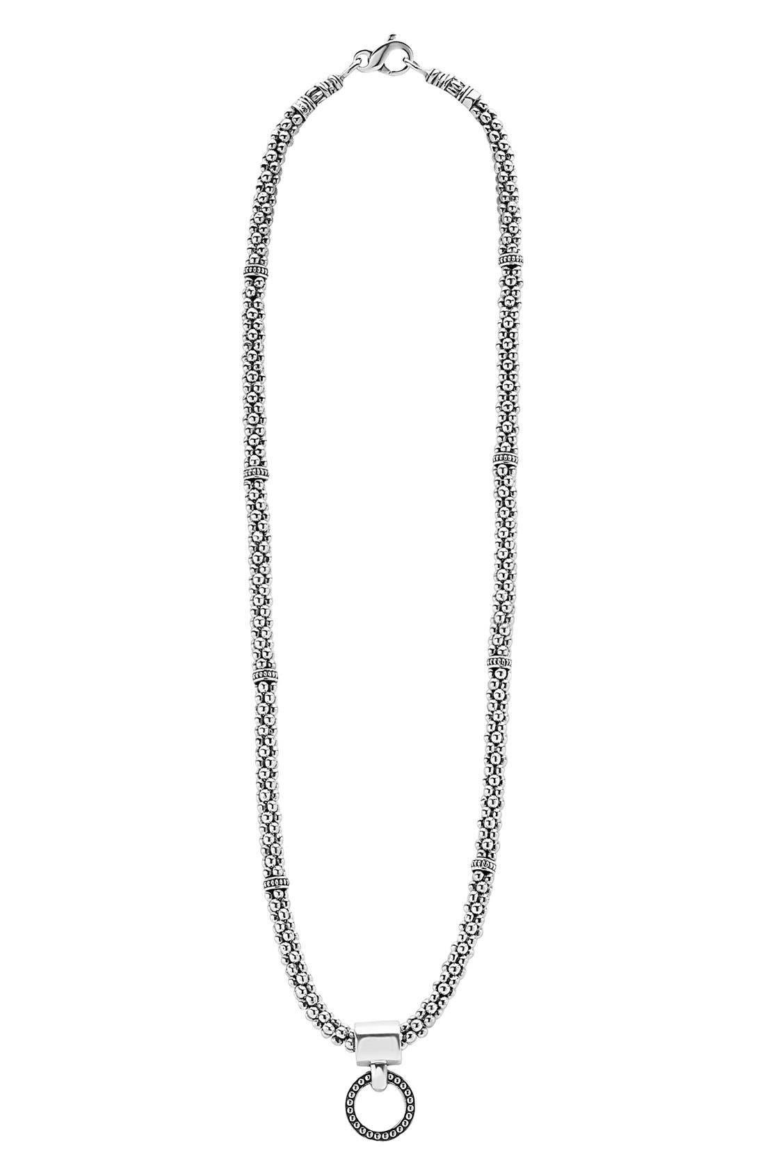 LAGOS Enso Pendant Caviar Rope Necklace