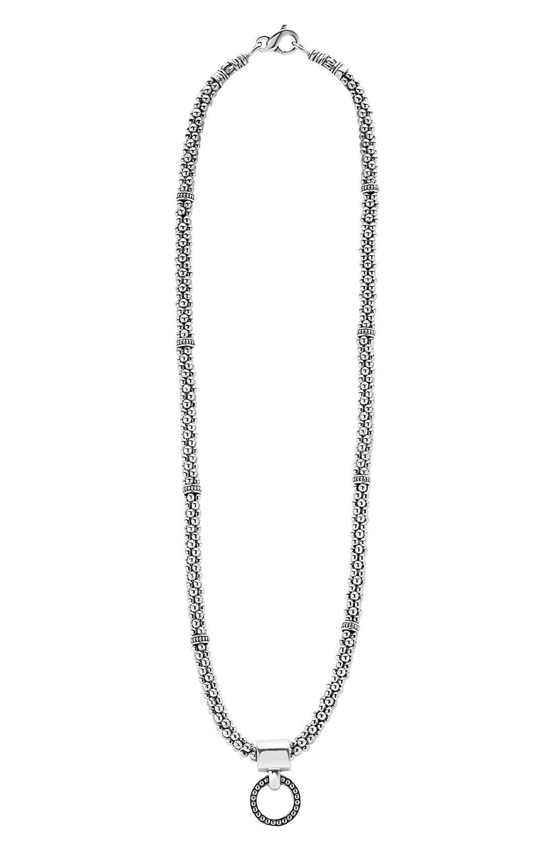LAGOS 'Enso' Pendant Caviar Rope Necklace