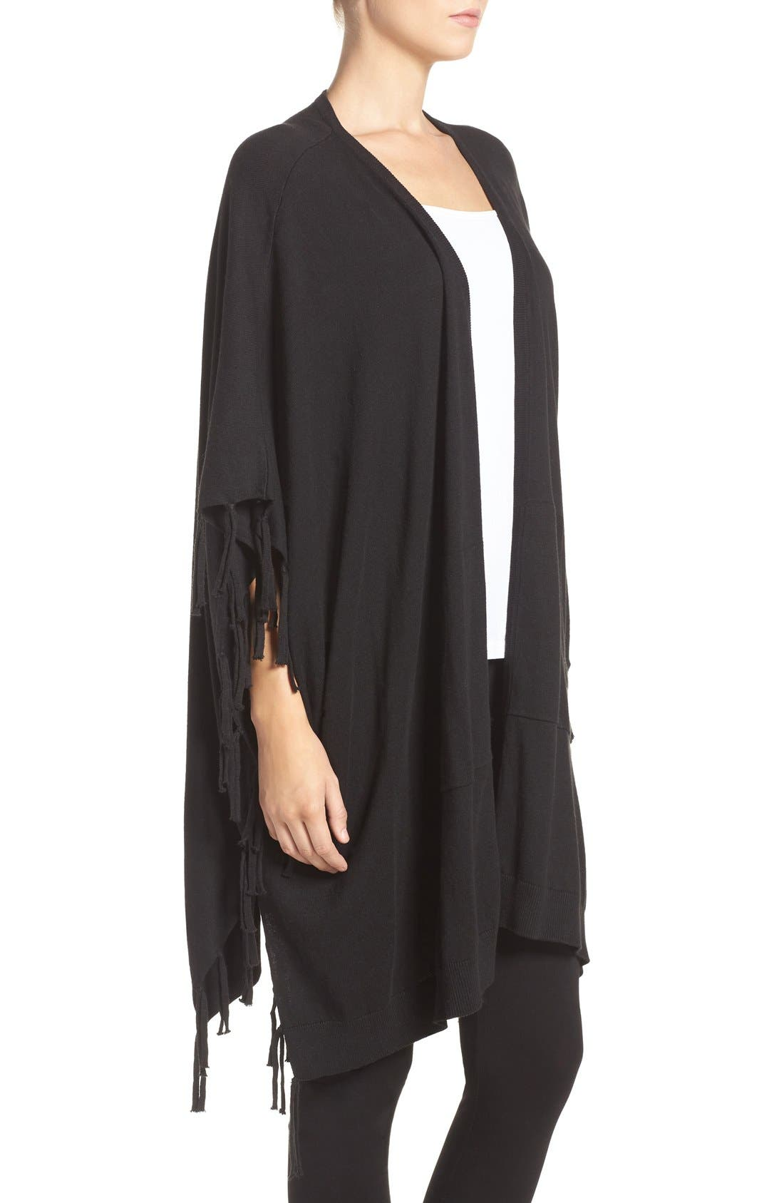 Alternate Image 3  - DKNY Fringe Sweater Wrap