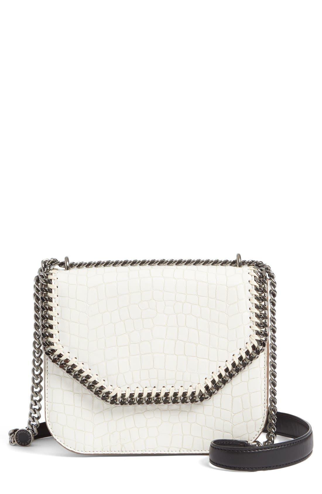 Falabella Box Shoulder Bag,                             Main thumbnail 1, color,                             Ivory