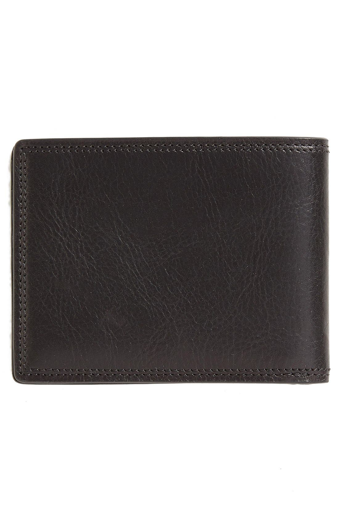 Leather Bifold Wallet,                             Alternate thumbnail 3, color,                             Black