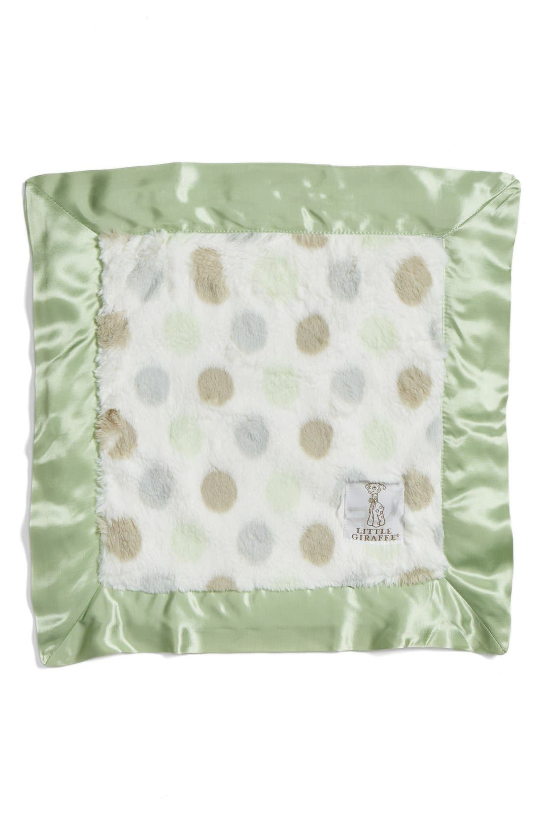 'Luxe Dot' Blanky,                             Main thumbnail 1, color,                             Celadon