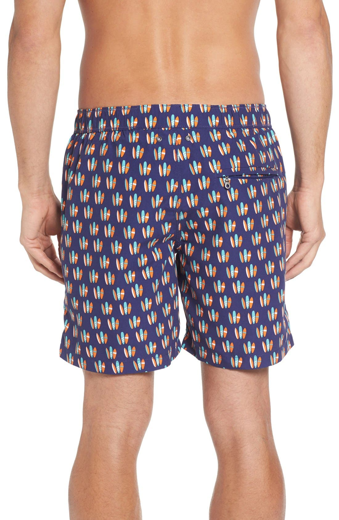 Alternate Image 2  - Tom & Teddy Surfboard Print Swim Trunks