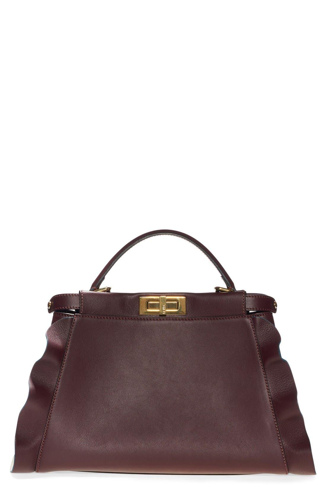 Fendi 'Medium Peekaboo - Wave' Leather Bag