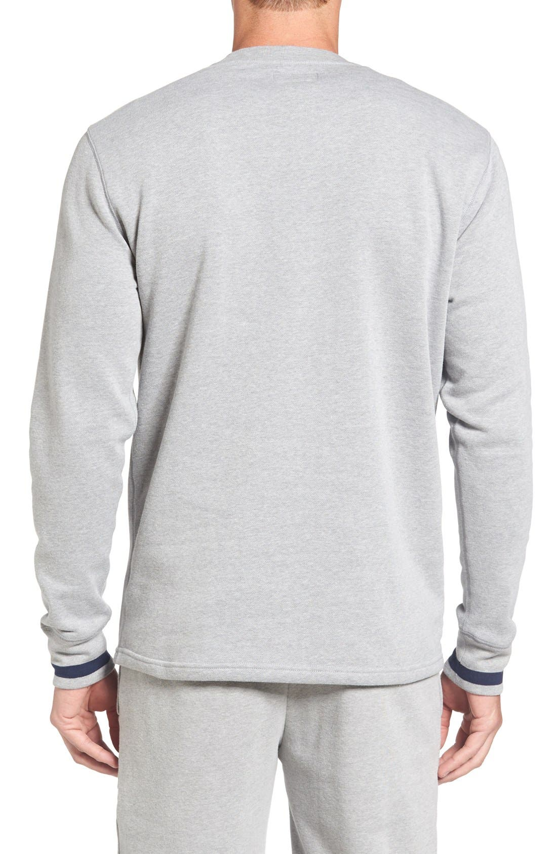 Brushed Jersey Cotton Blend Crewneck Sweatshirt,                             Alternate thumbnail 2, color,                             Andover Heather Grey