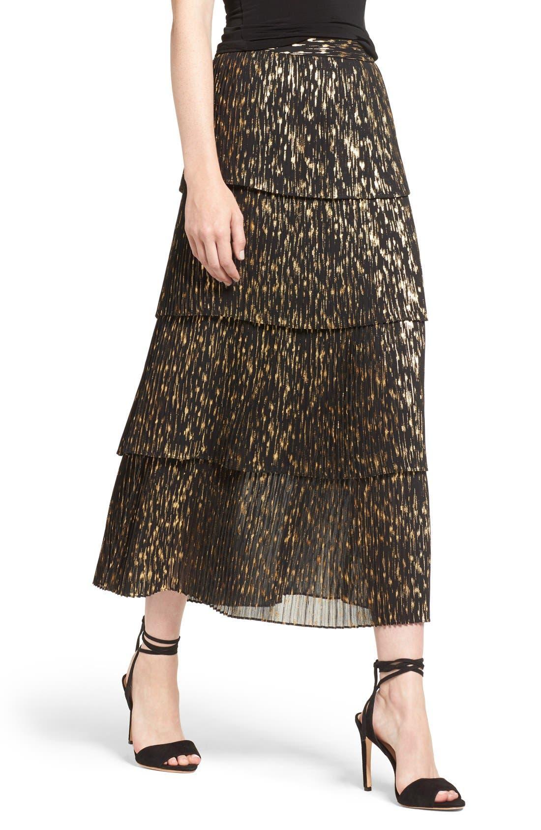 Alternate Image 5  - Olivia Palermo + Chelsea28 Accordion Pleat Midi Skirt