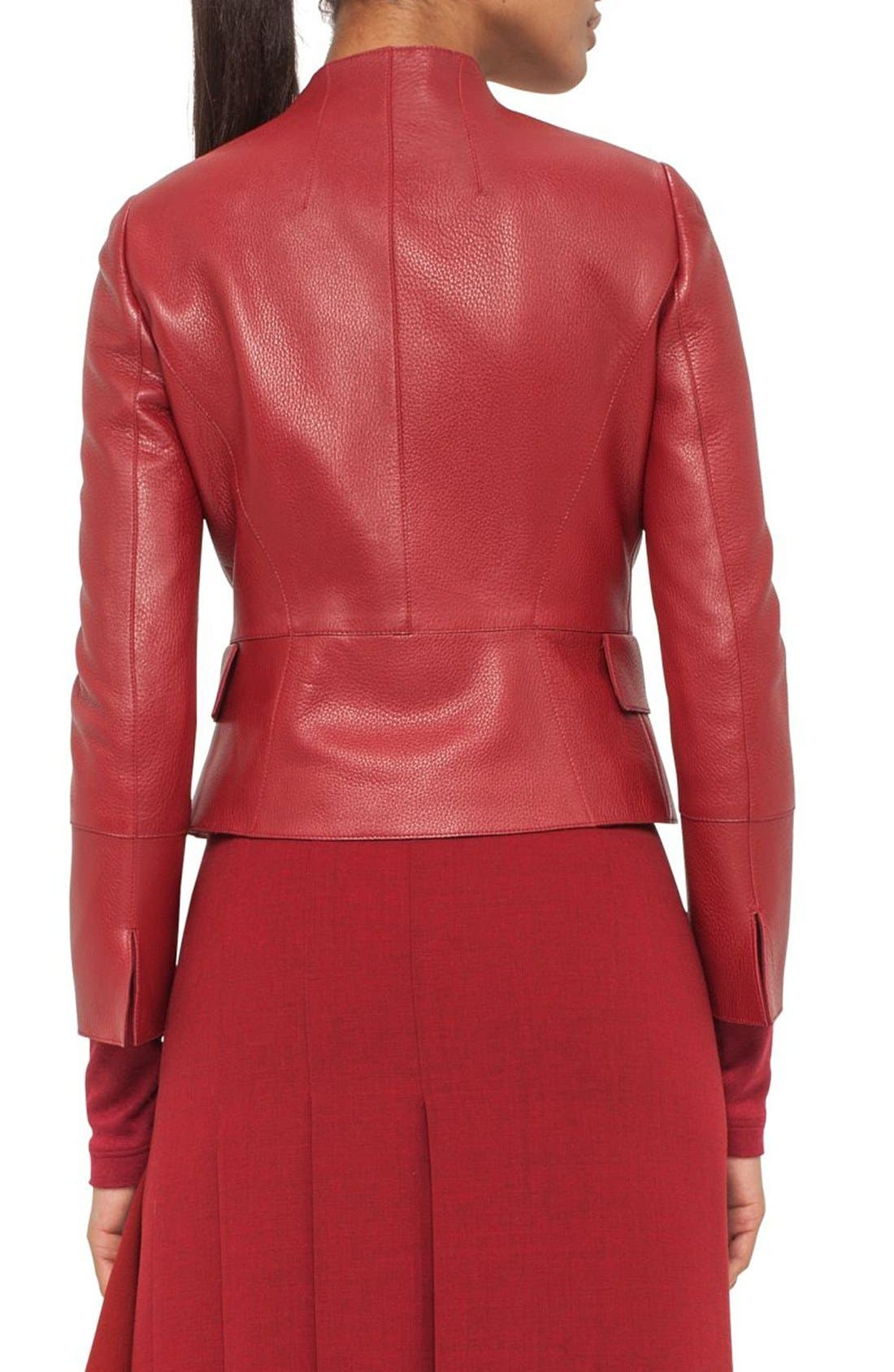 Nappa Leather Jacket,                             Alternate thumbnail 2, color,                             Miracle Berry