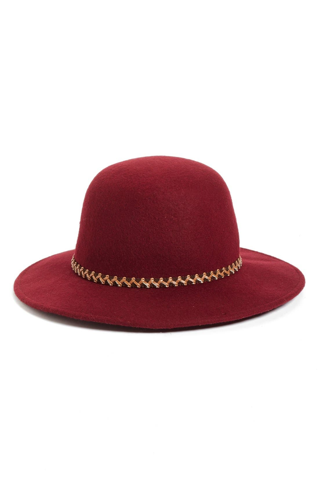 Wool Hat,                             Main thumbnail 1, color,                             Burgundy