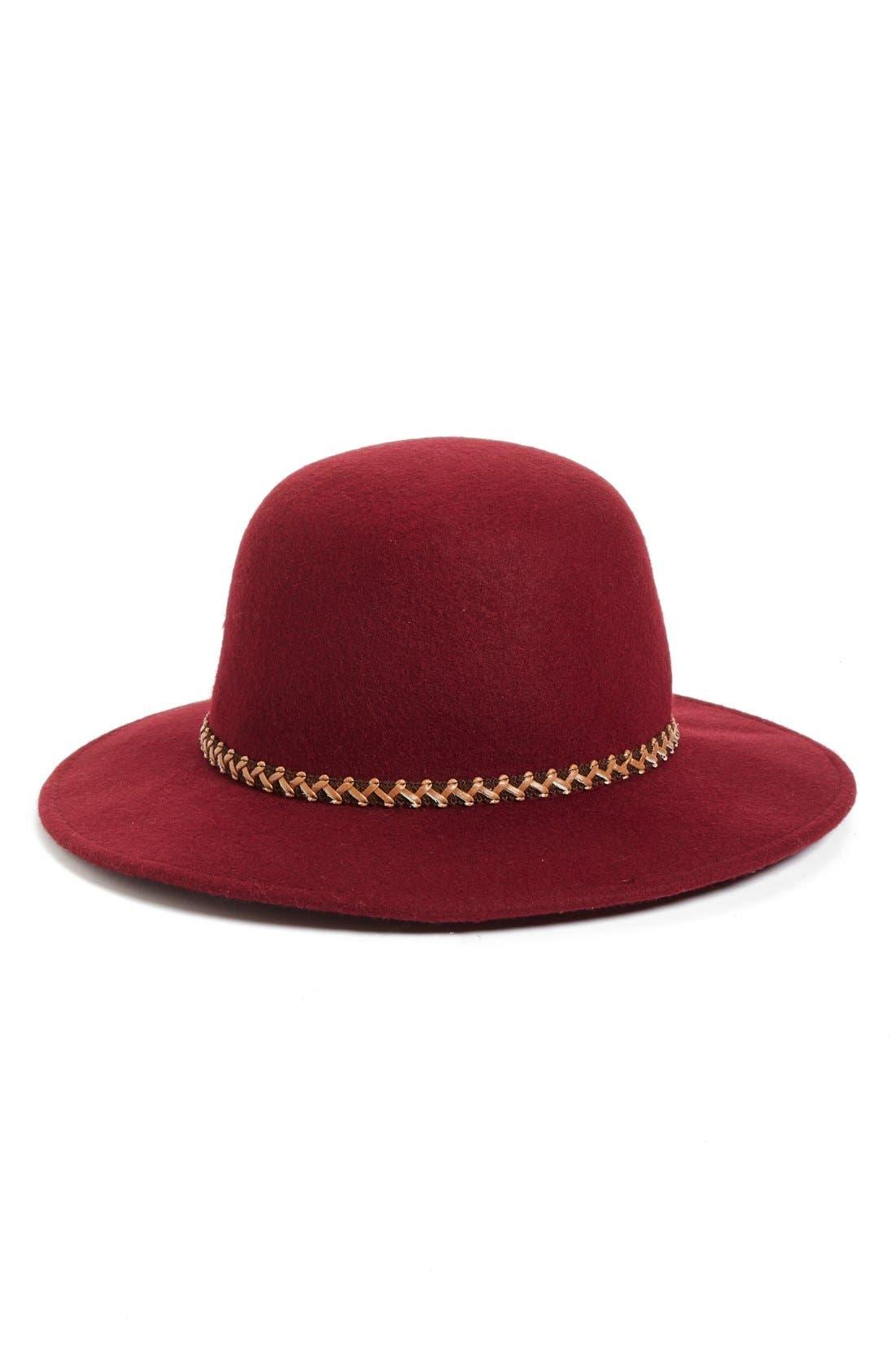 Wool Hat,                         Main,                         color, Burgundy