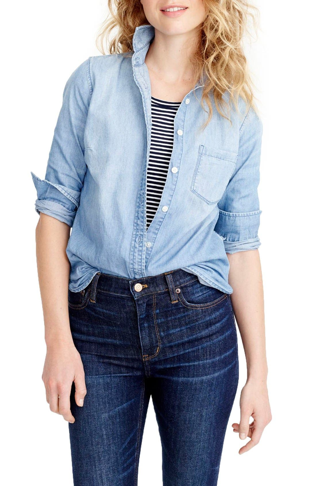 Always Chambray Shirt,                             Main thumbnail 1, color,                             Indigo