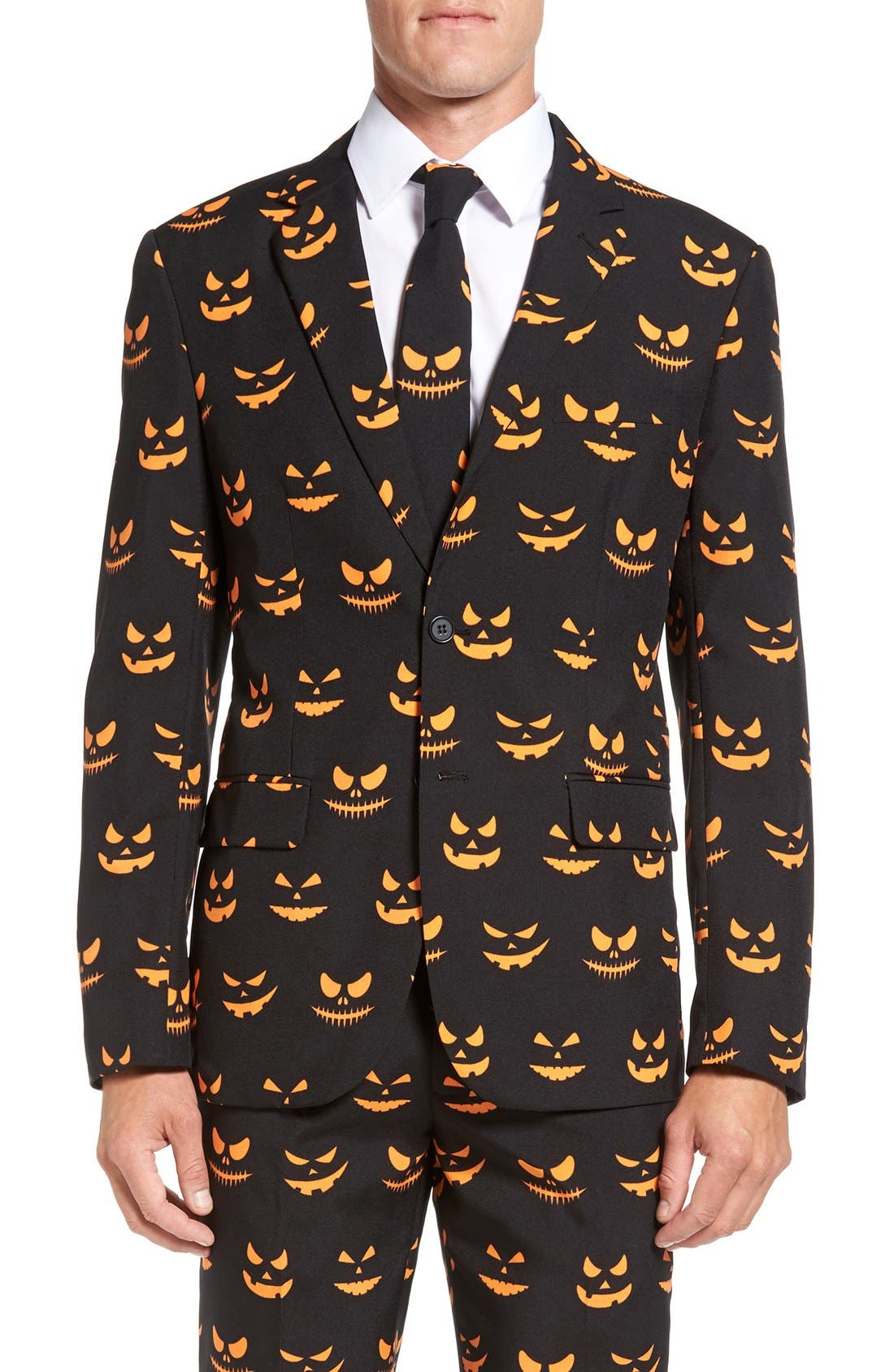 Alternate Image 5  - OppoSuits 'Black-O Jack-O' Trim Fit Suit with Tie