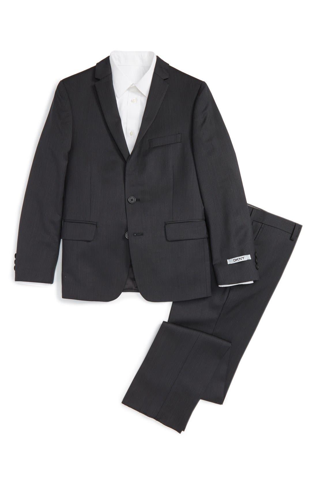 Neat Wool Suit,                         Main,                         color, Black
