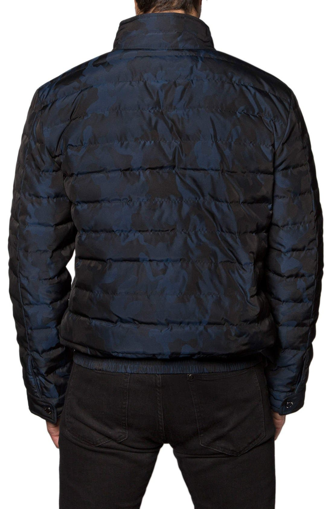 Chicago Camo Down Puffer Jacket,                             Alternate thumbnail 2, color,                             Navy Camo