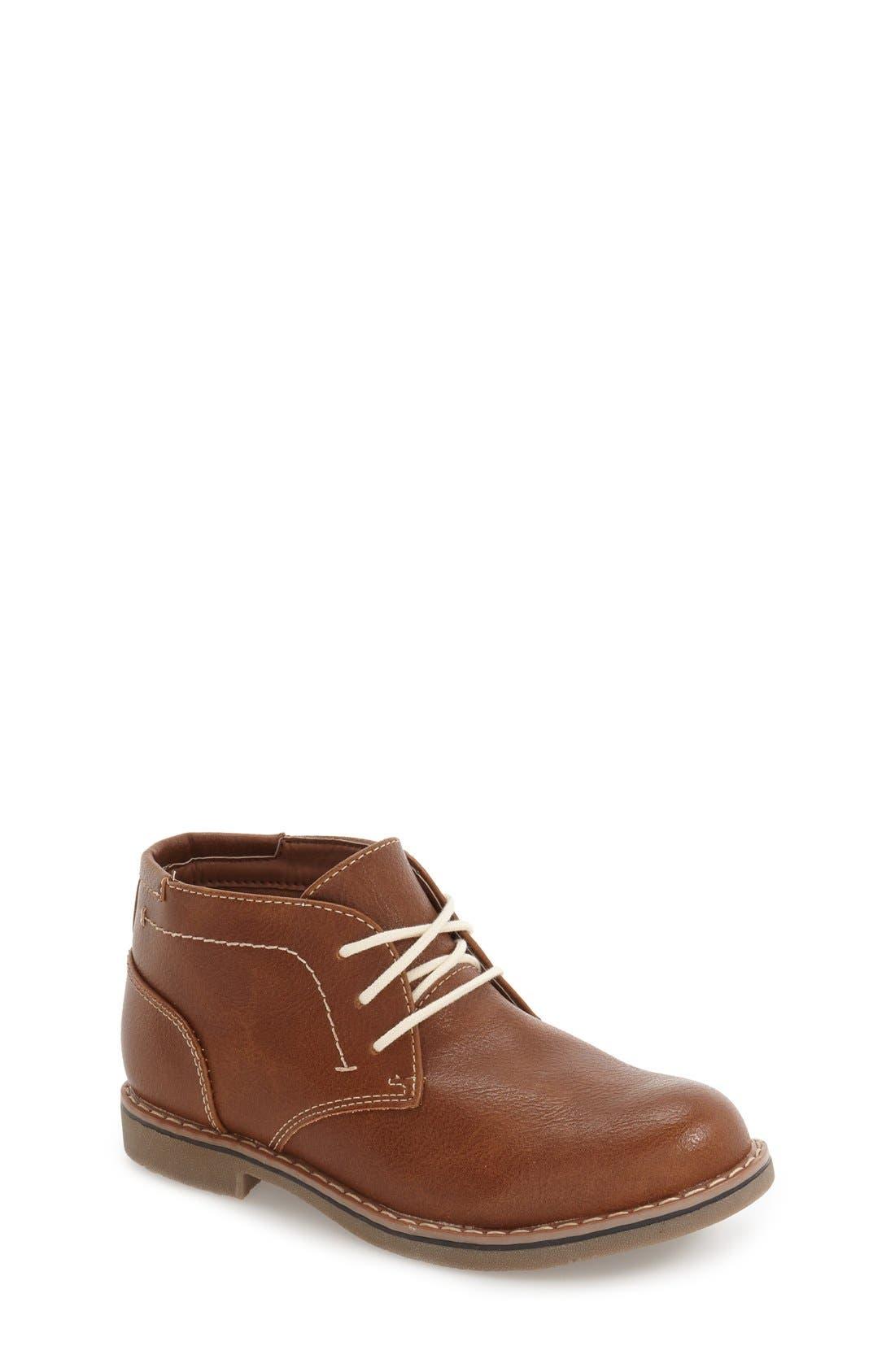 Classic Chukka Boot,                             Main thumbnail 1, color,                             Cognac Faux Leather