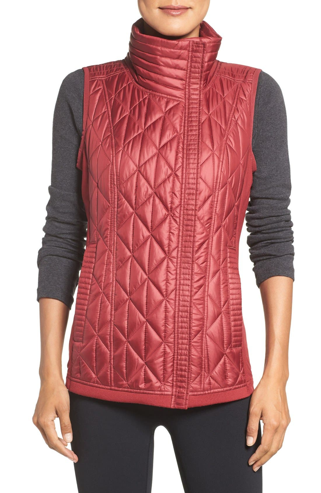 Main Image - Zella Brooklyn Quilted Vest
