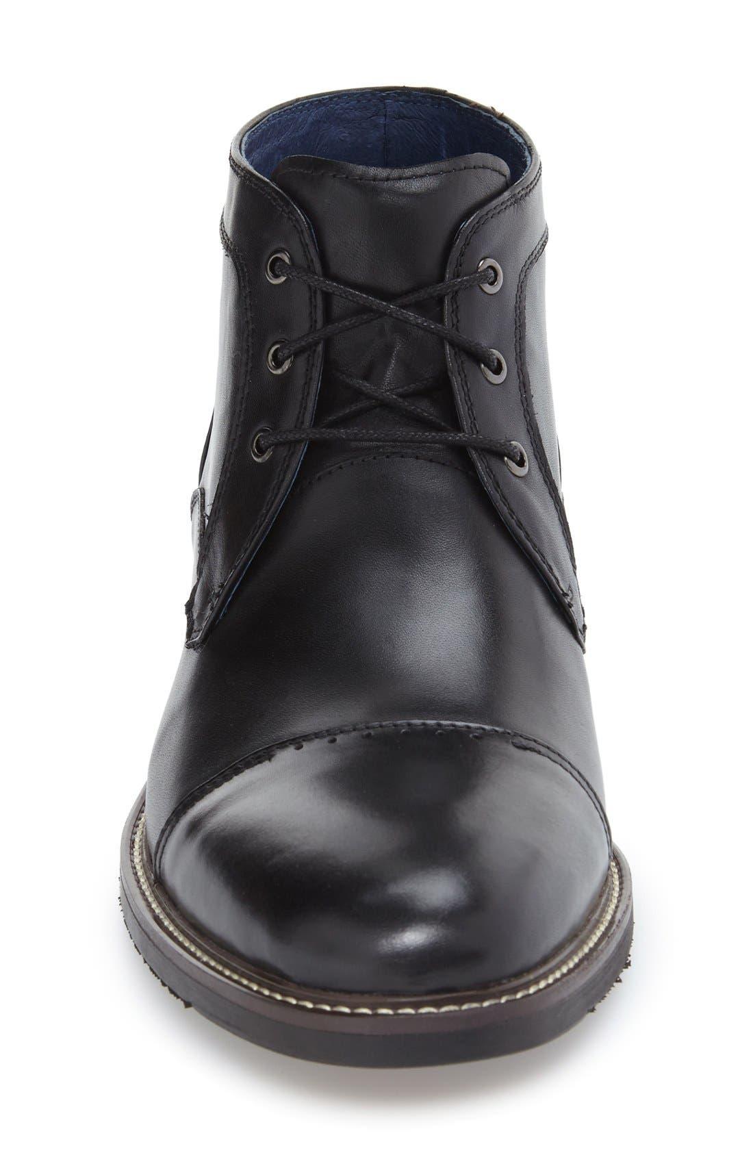'Rubano' Chukka Boot,                             Alternate thumbnail 3, color,                             Black