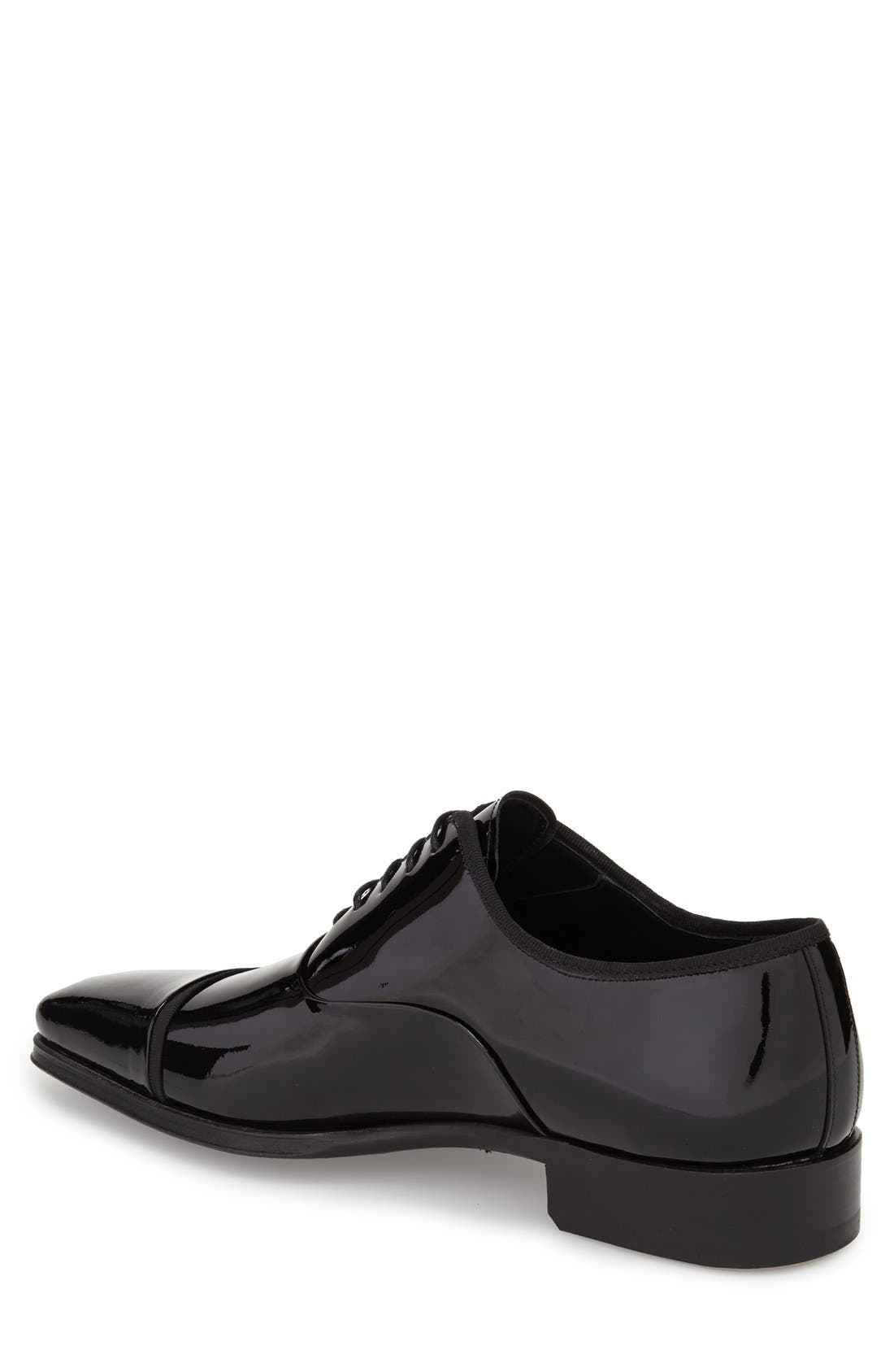 'Denali' Cap Toe Oxford,                             Alternate thumbnail 2, color,                             Black