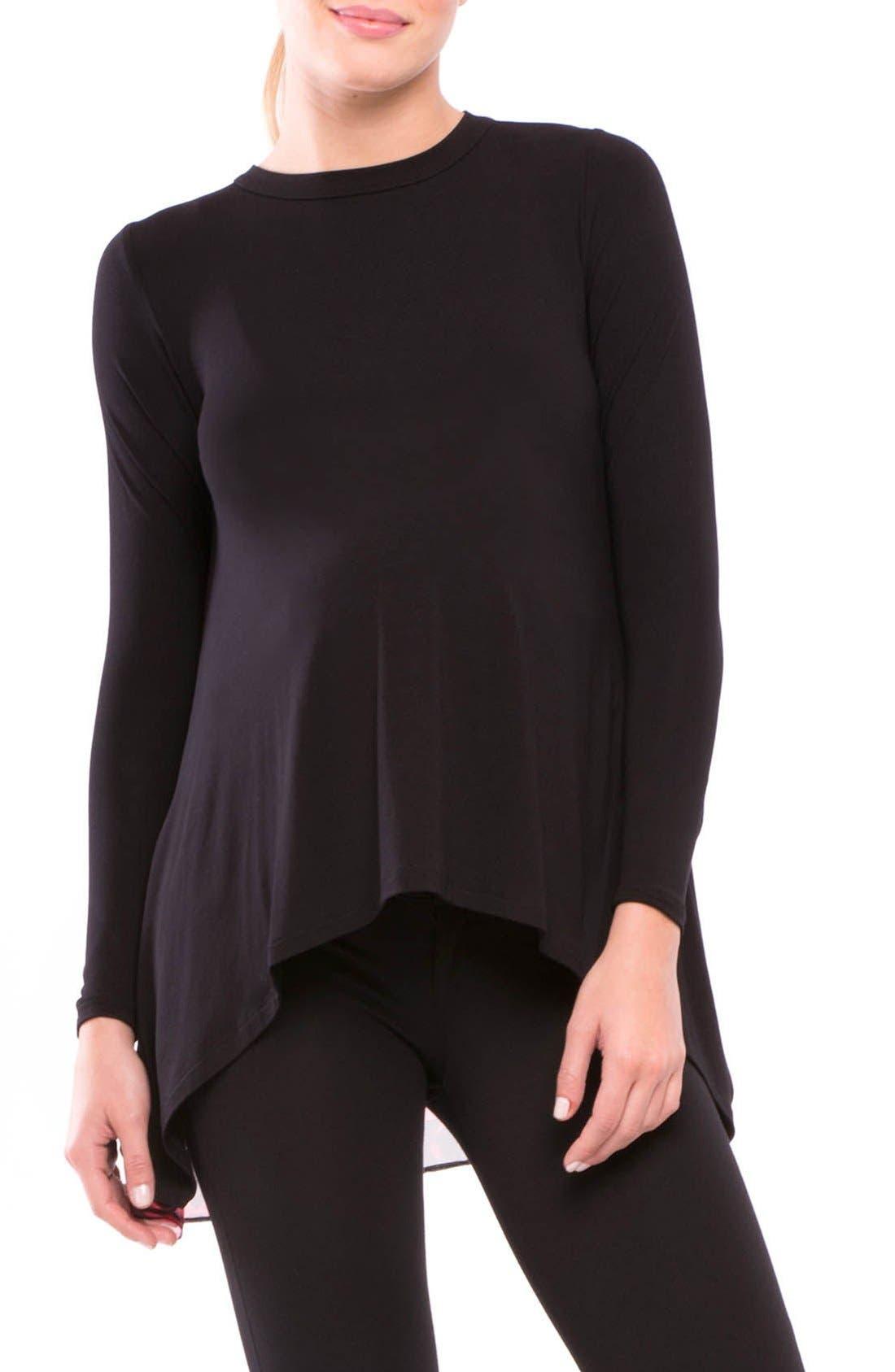 'Allison' Maternity Top,                         Main,                         color, Black