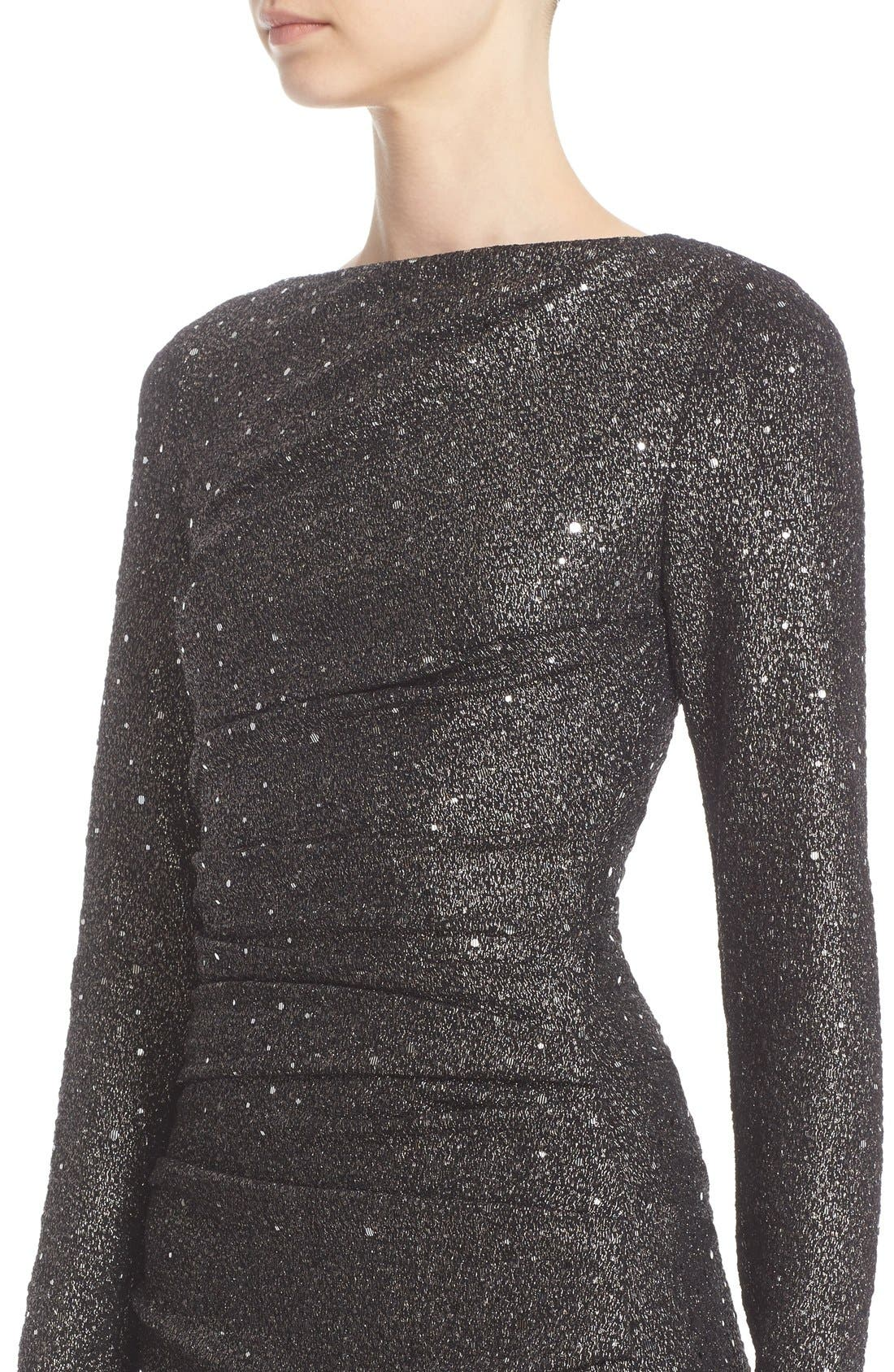 Alternate Image 5  - Talbot Runhof Sequin Glitter Jersey Ruched Gown
