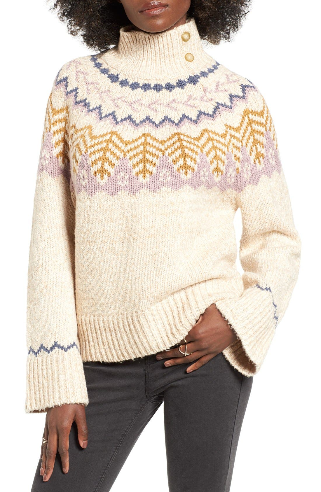 Alternate Image 1 Selected - BP. Fair Isle Knit Pullover