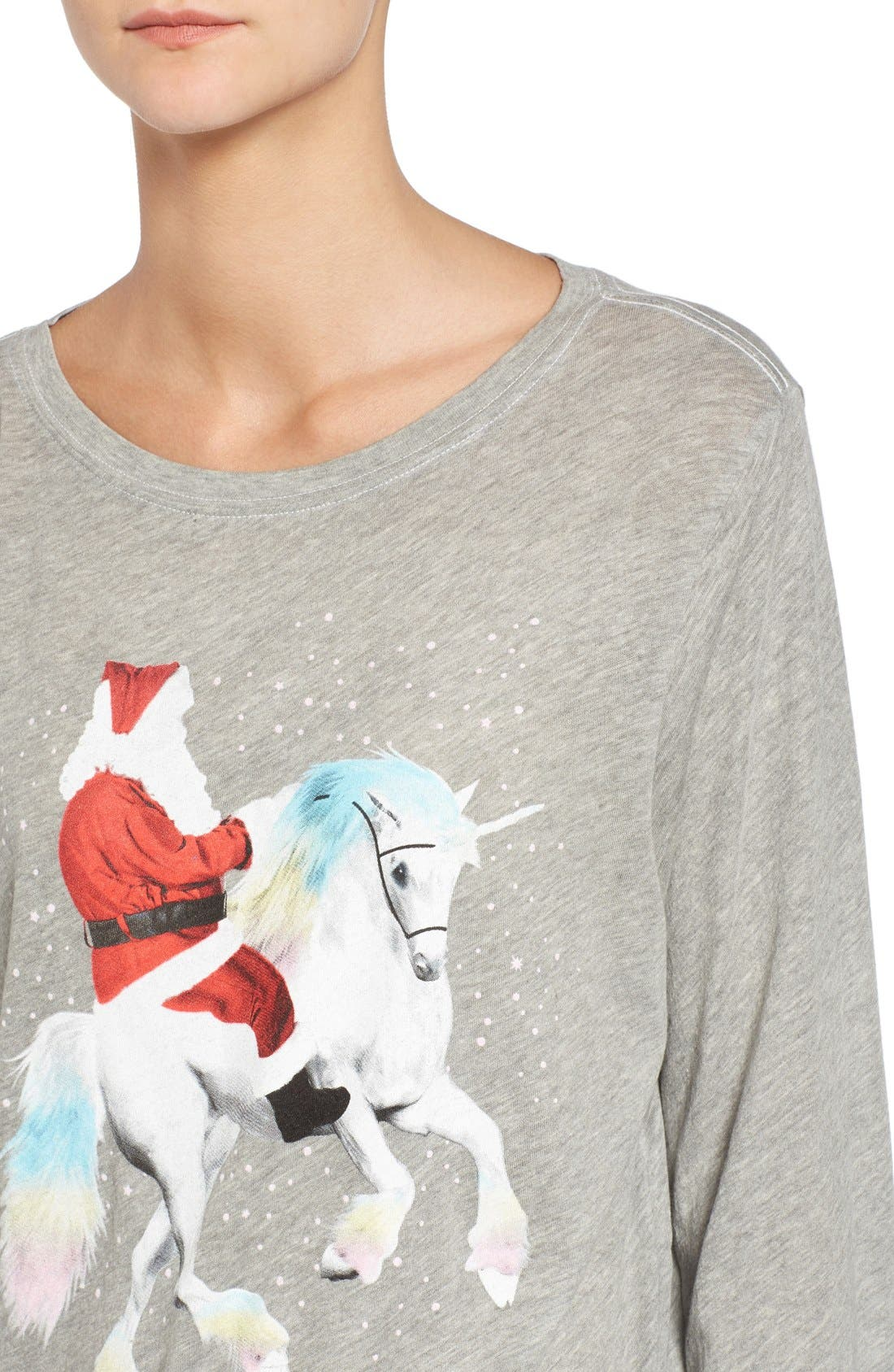 Alternate Image 4  - Wildfox Unicorn Sleigh Tee