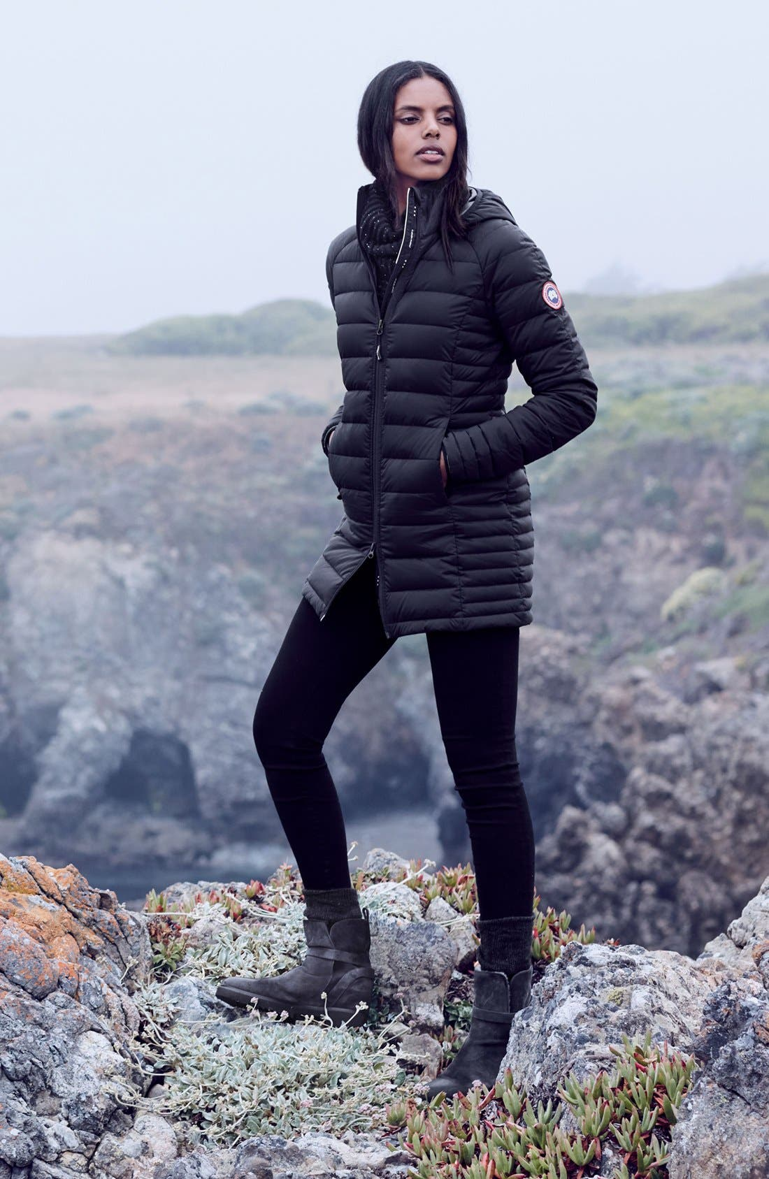 Alternate Image 2  - Canada Goose 'Brookvale' Hooded Quilted Down Coat