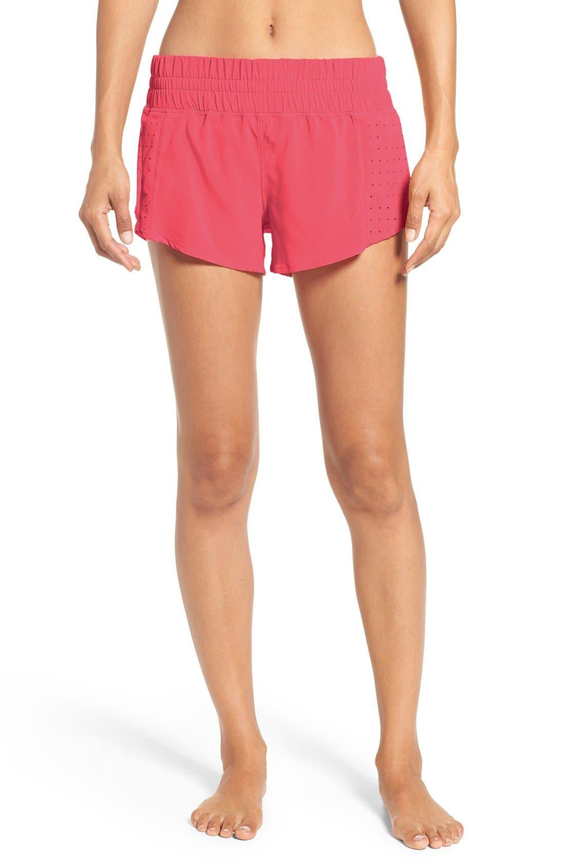 Main Image - Zella 'Daylight' Perforated Shorts