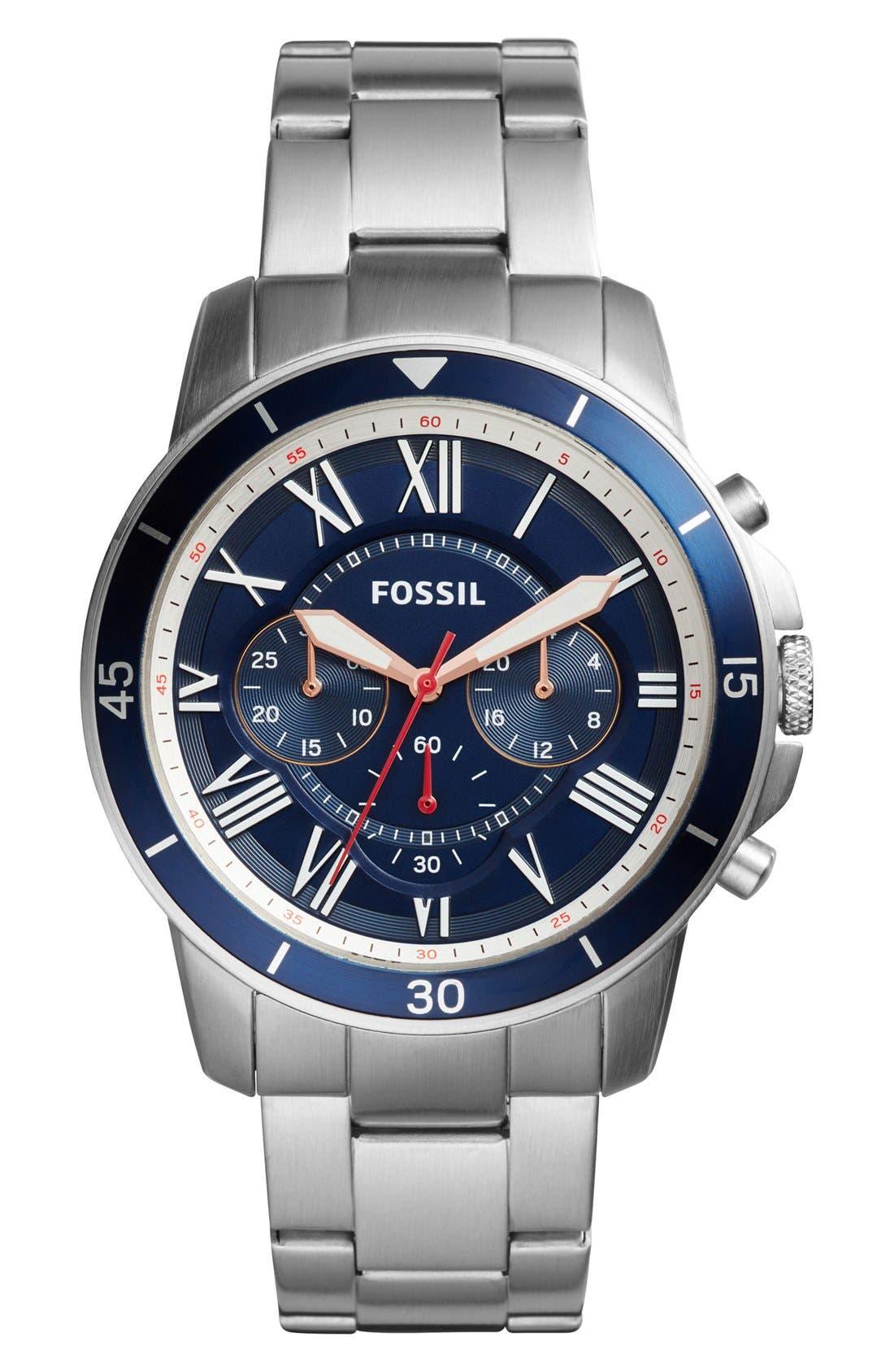 FOSSIL Grant Sport Chronograph Bracelet Watch, 44mm