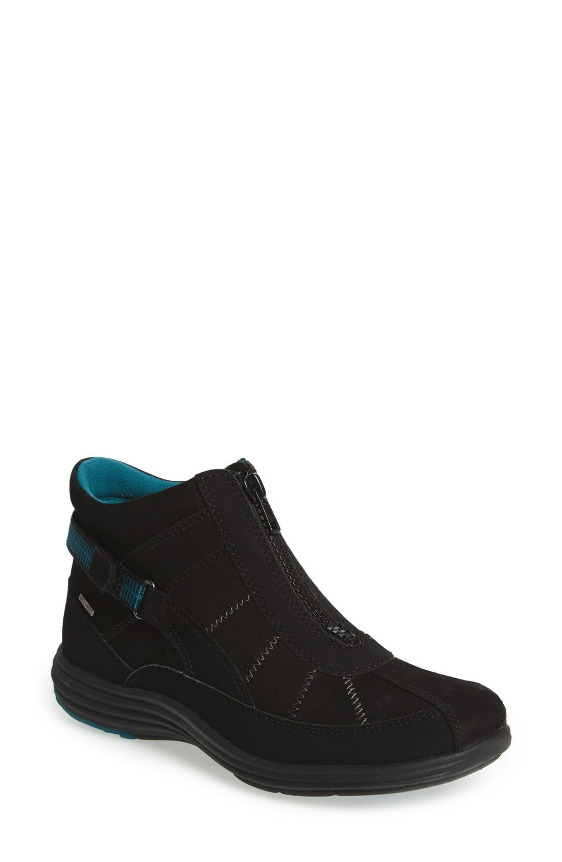 'Beverly' Waterproof Midi Sneaker,                         Main,                         color, Black Leather