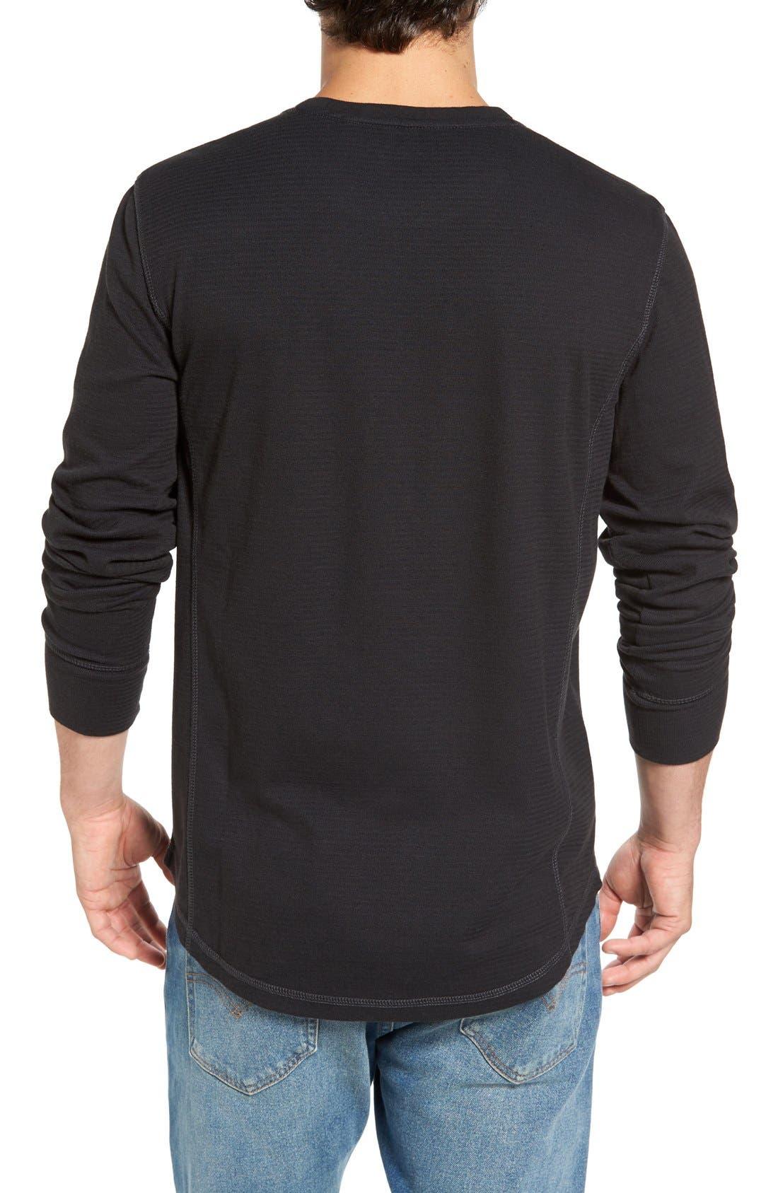 Larsen Zigzag Thermal T-Shirt,                             Alternate thumbnail 2, color,                             Black