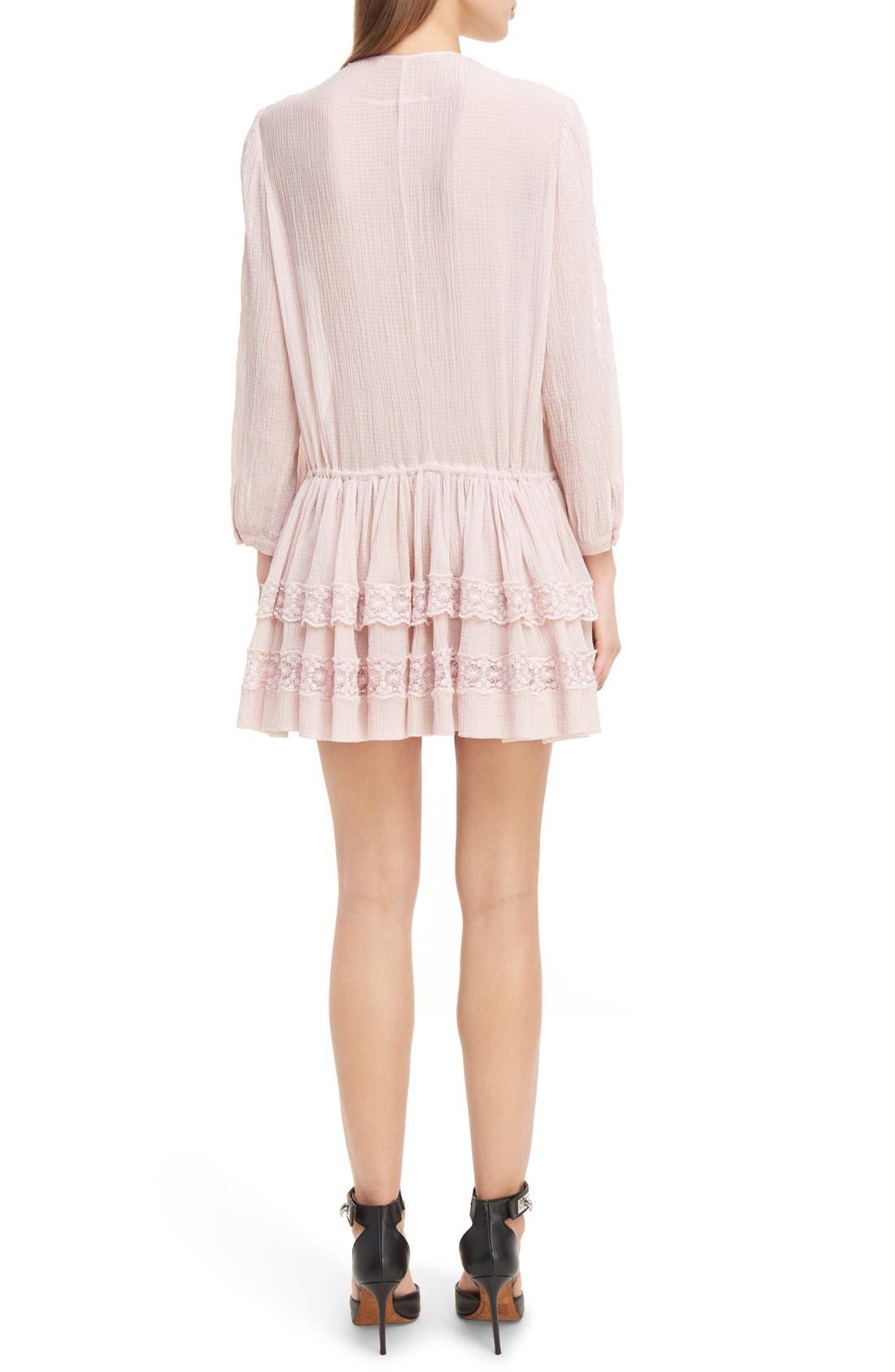 Alternate Image 3  - Givenchy Ruffle Crepon Peasant Dress