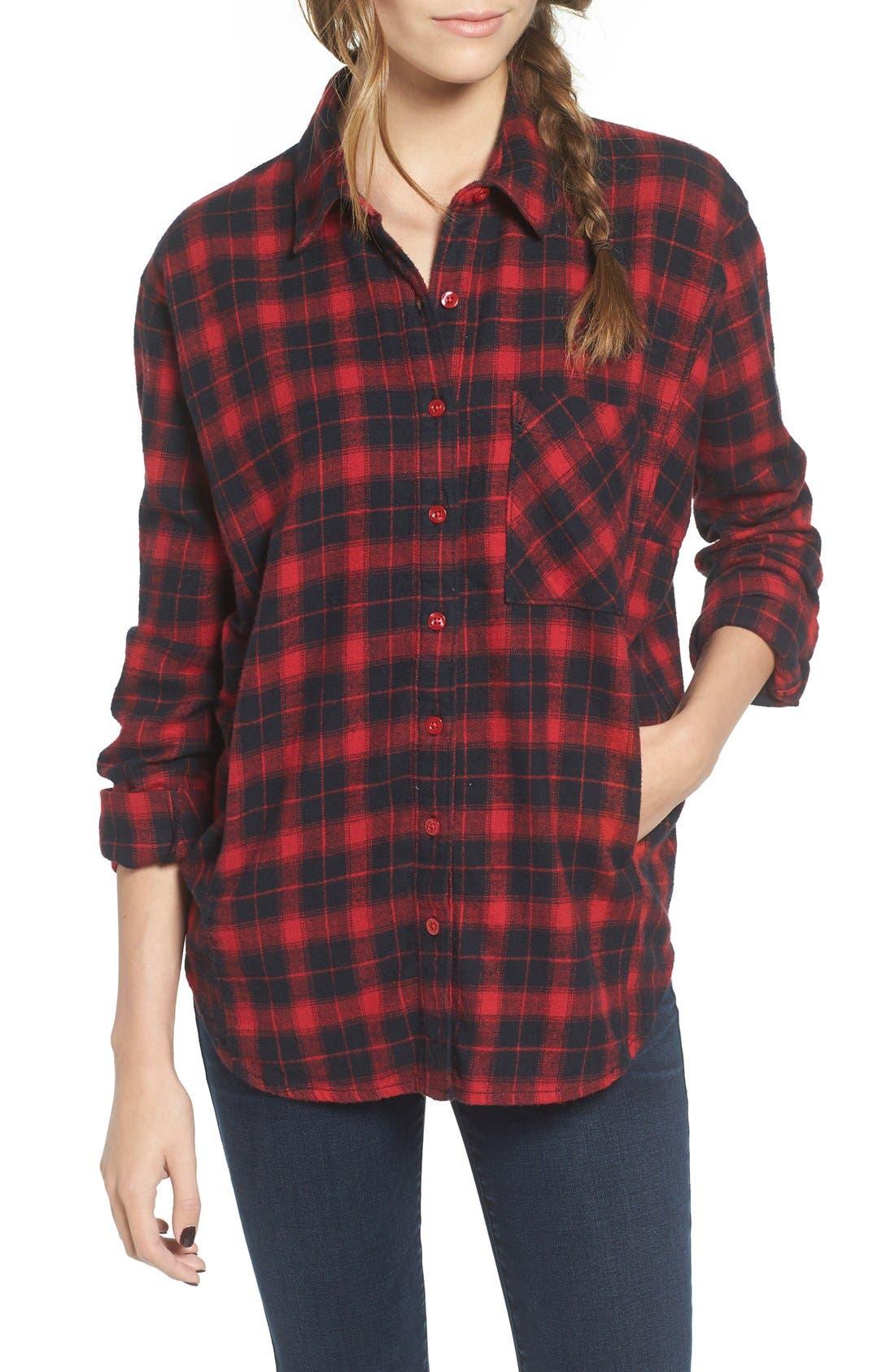 Alternate Image 1 Selected - BP. Plaid Flannel Shirt