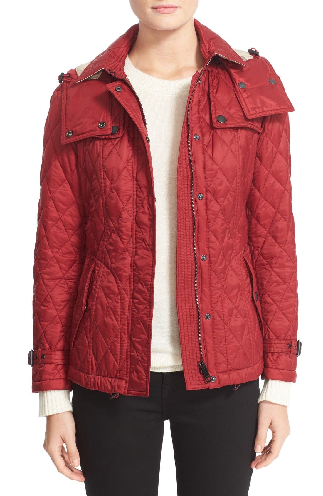 Alternate Image 1 Selected - Burberry Finsbridge ShortQuilted Jacket