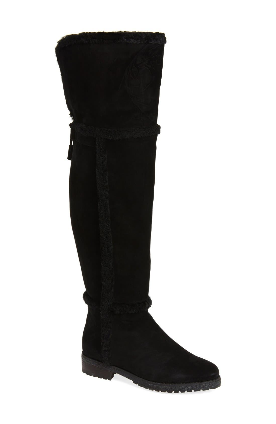 Alternate Image 1 Selected - Frye 'Tamara' Genuine Shearling Over the Knee Boot (Women)