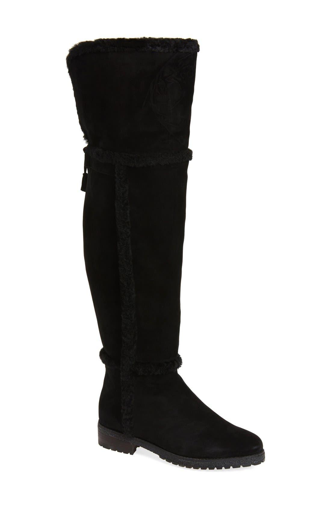 Main Image - Frye 'Tamara' Genuine Shearling Over the Knee Boot (Women)