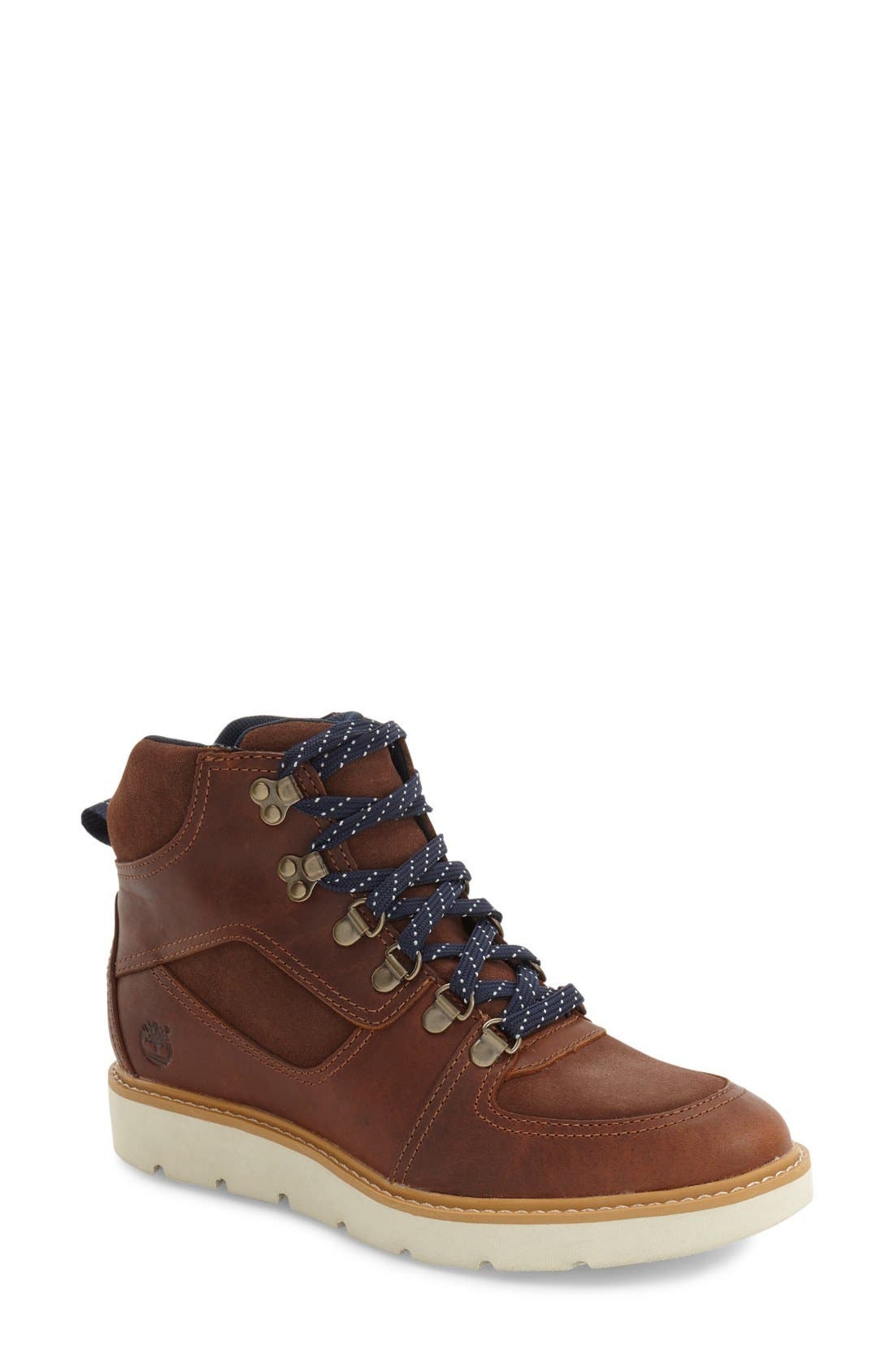 'Kenniston' Lace-Up Boot,                         Main,                         color, Tobacco Leather