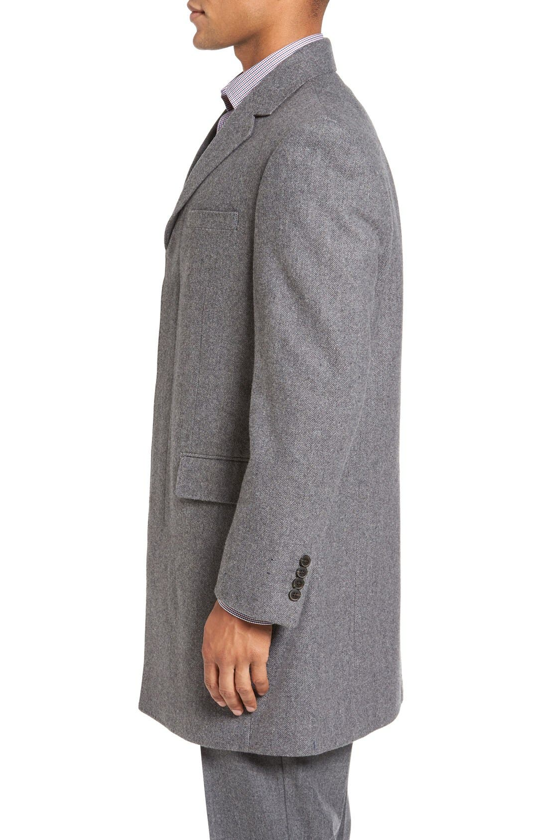 Alternate Image 3  - Hart Schaffner Marx Maitland Modern Fit Wool Blend Overcoat