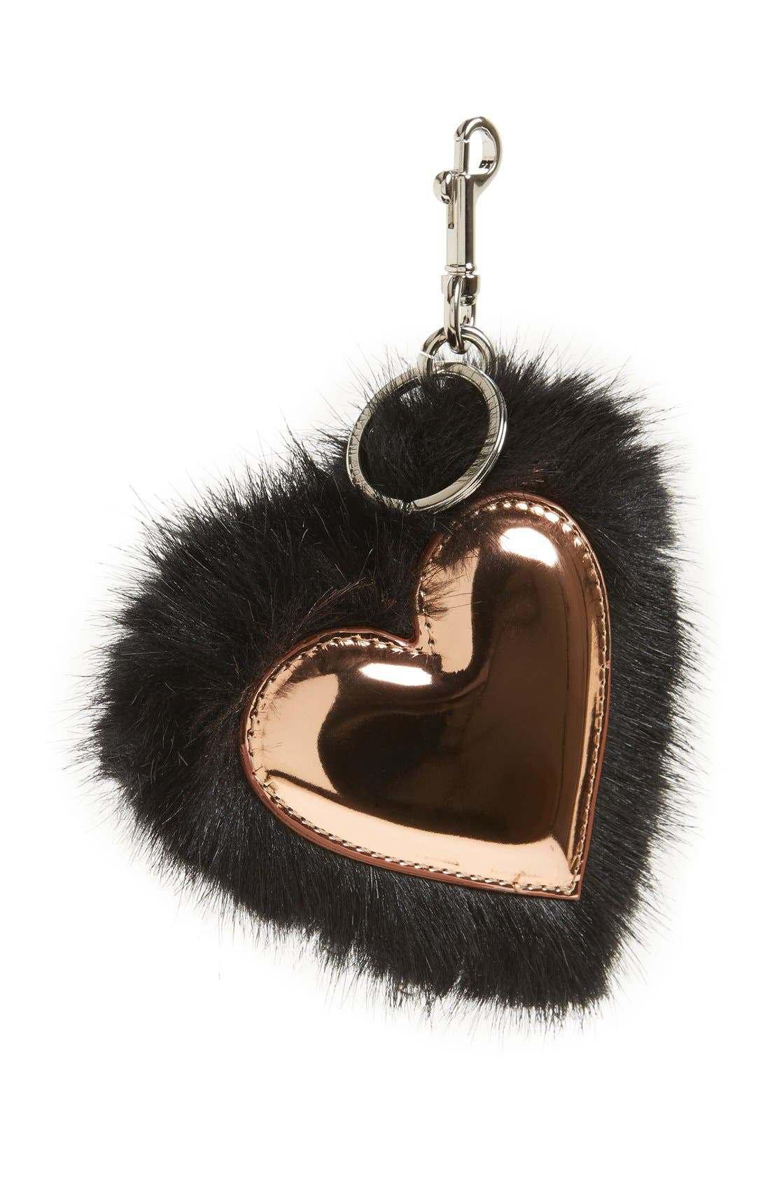 Stella McCartney Faux Fur Heart Bag Charm
